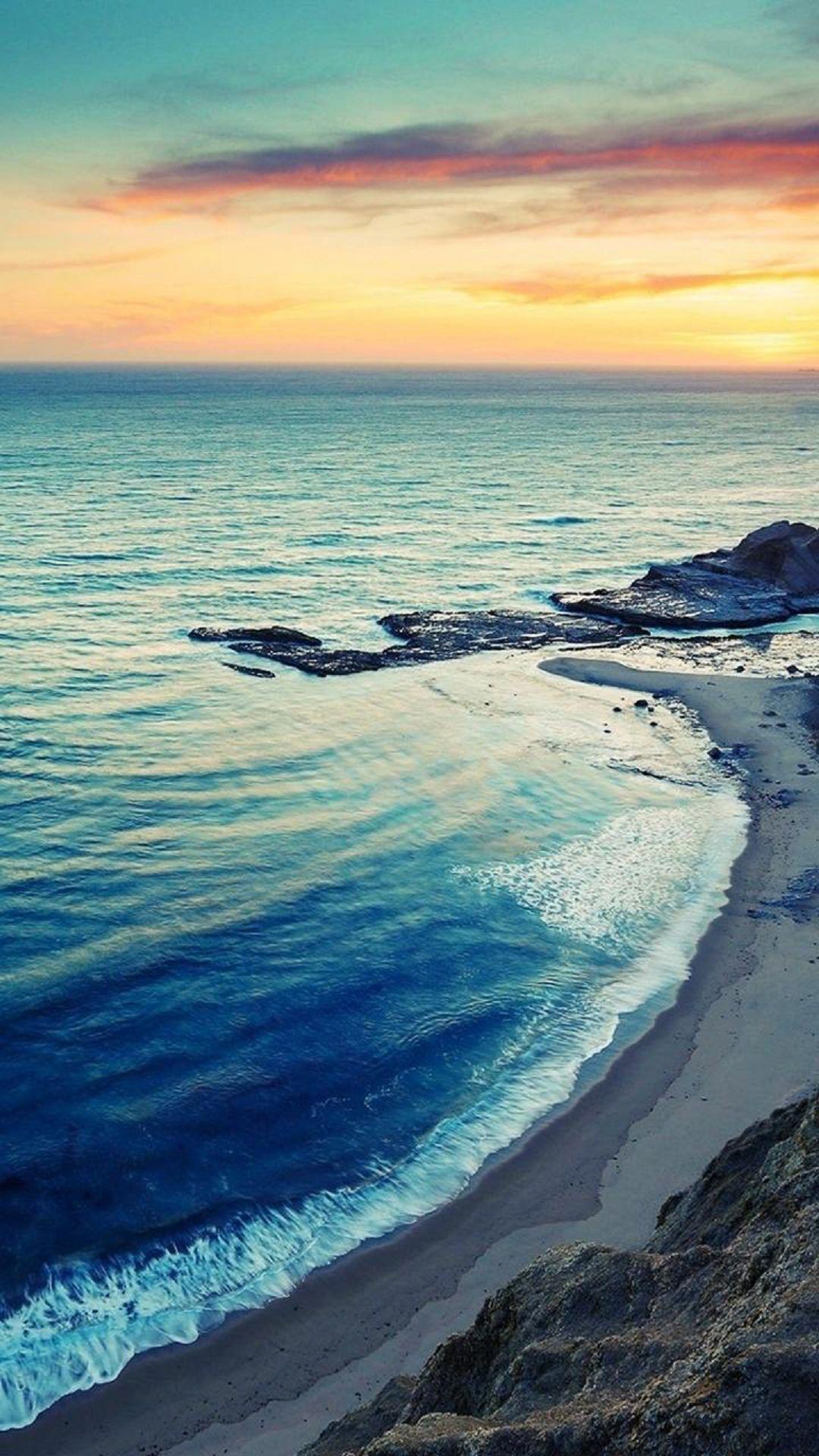 Sunrise Beach Seaside Coast Iphone Plus Hd Wallpaper Tapety
