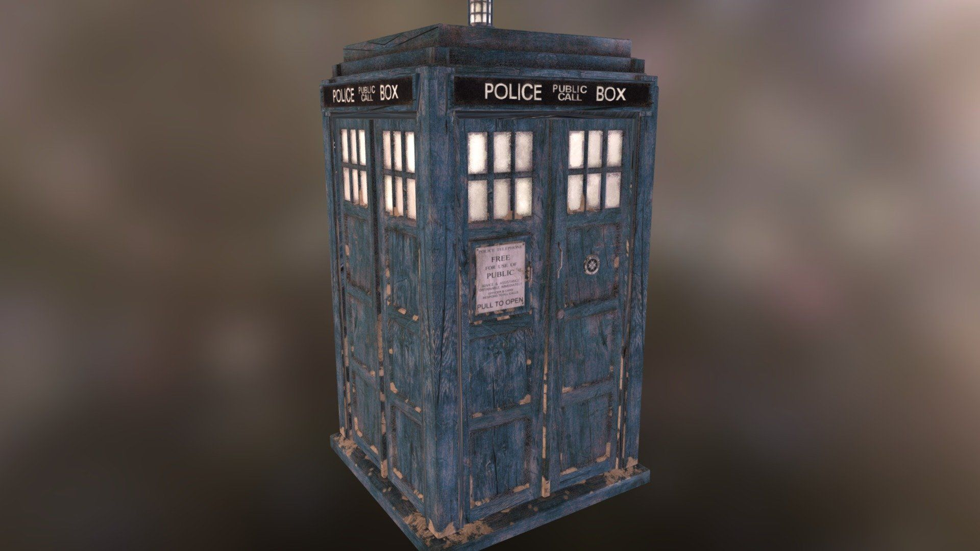 Tardis Download Free D Model By Thedocinabox Thedocinabox