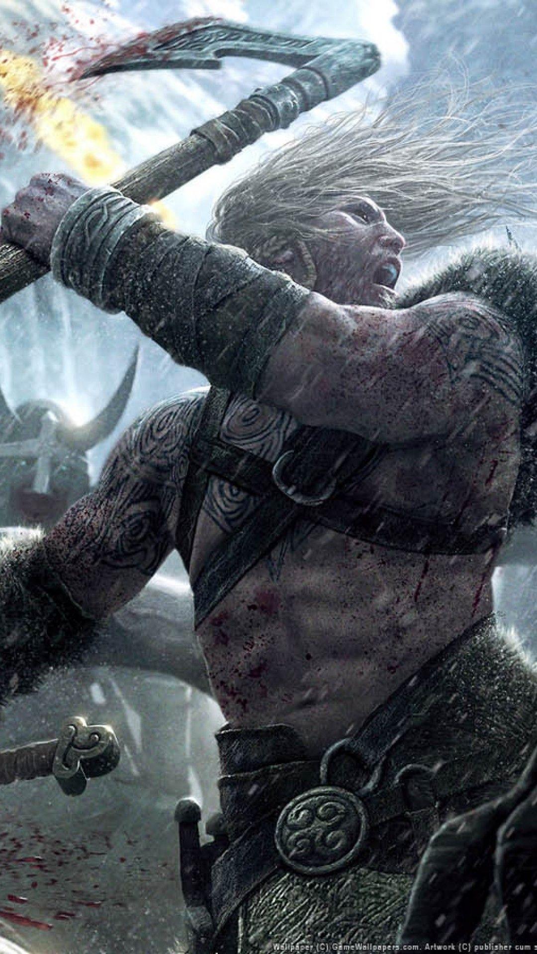 The Viking At The Battle Of Stamford Bridge Hd Wallpaper Iphone