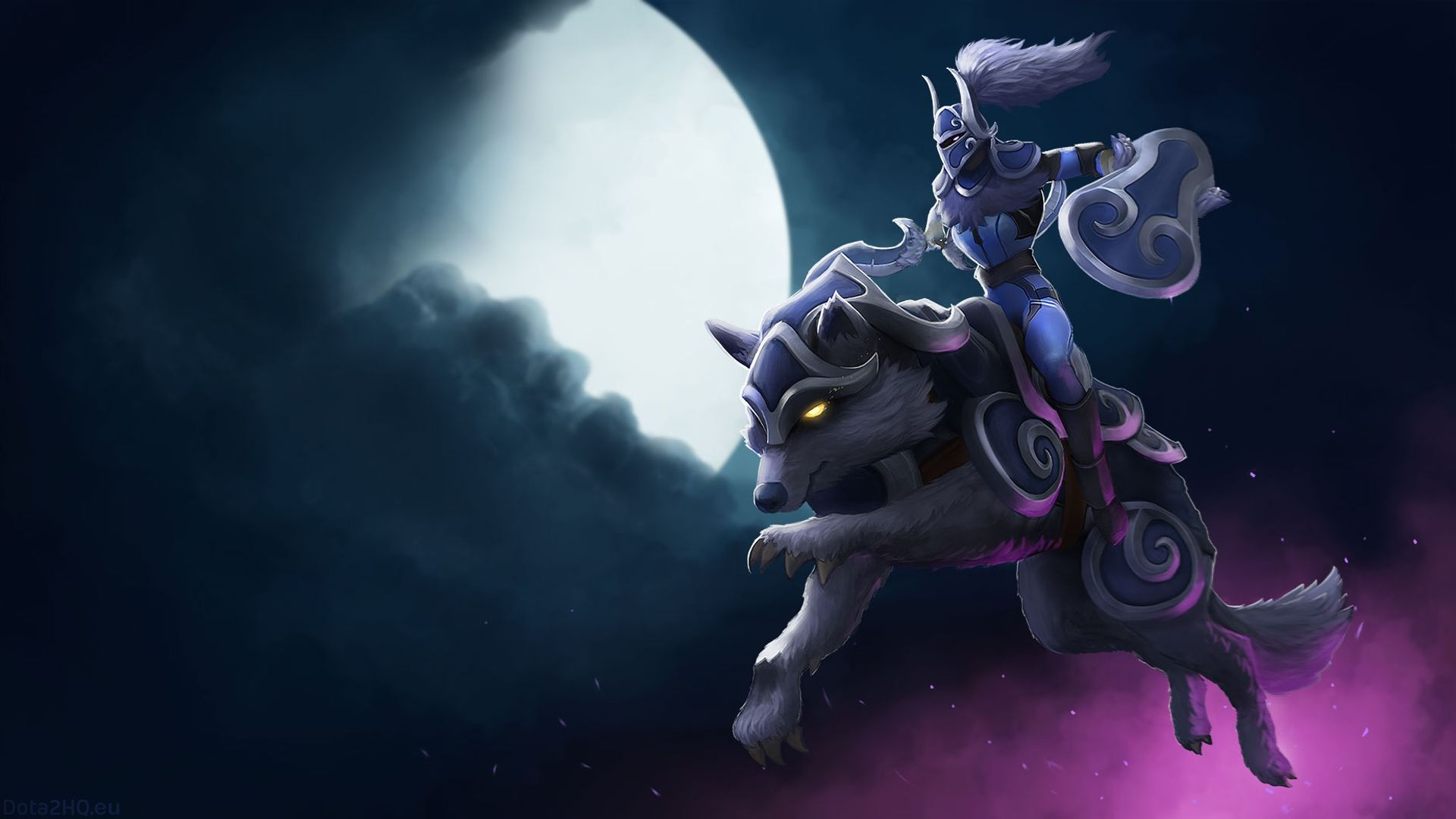 The Wallpaper Depicts Heroes Luna Dota