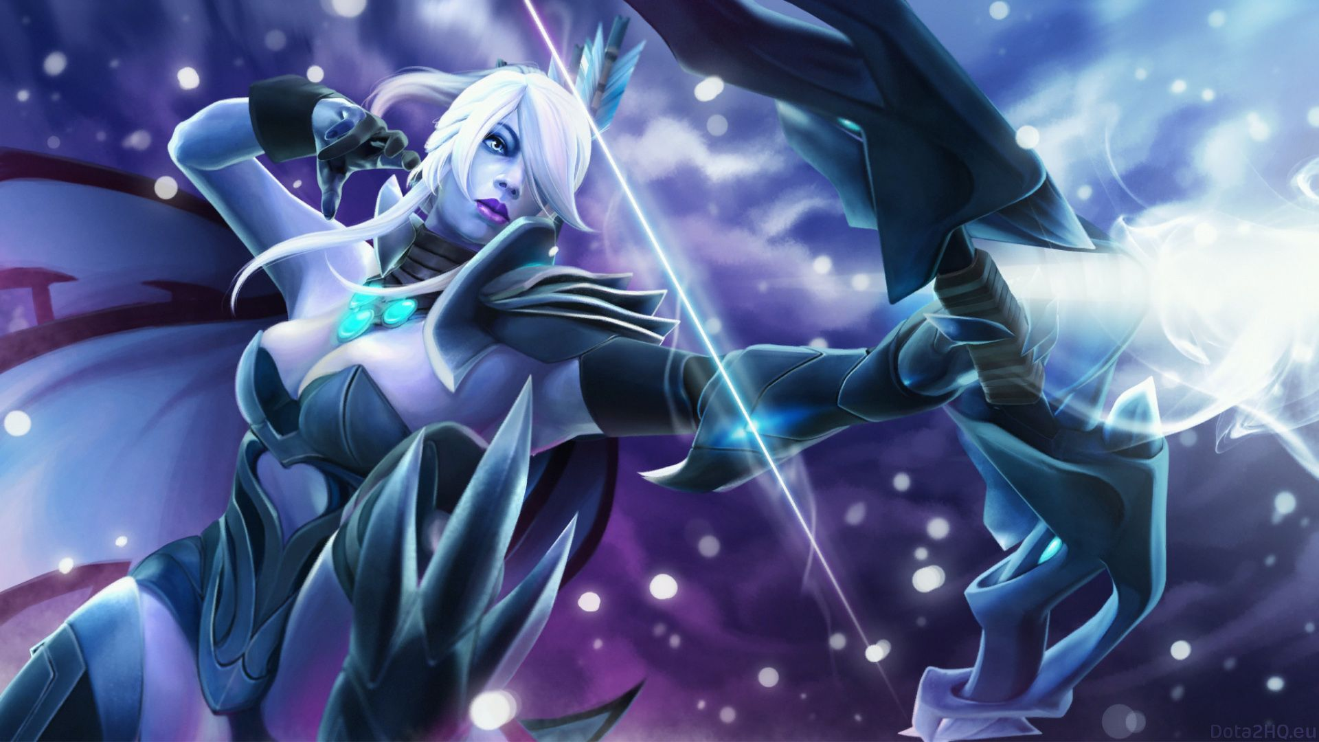 The Wallpaper Depicts The Heroes Of Dota Drow Ranger
