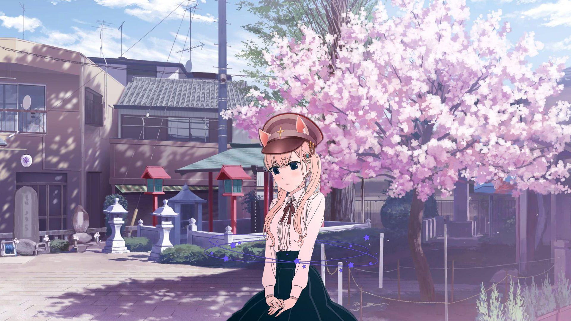 The Photo Of Girl Under The Sakura