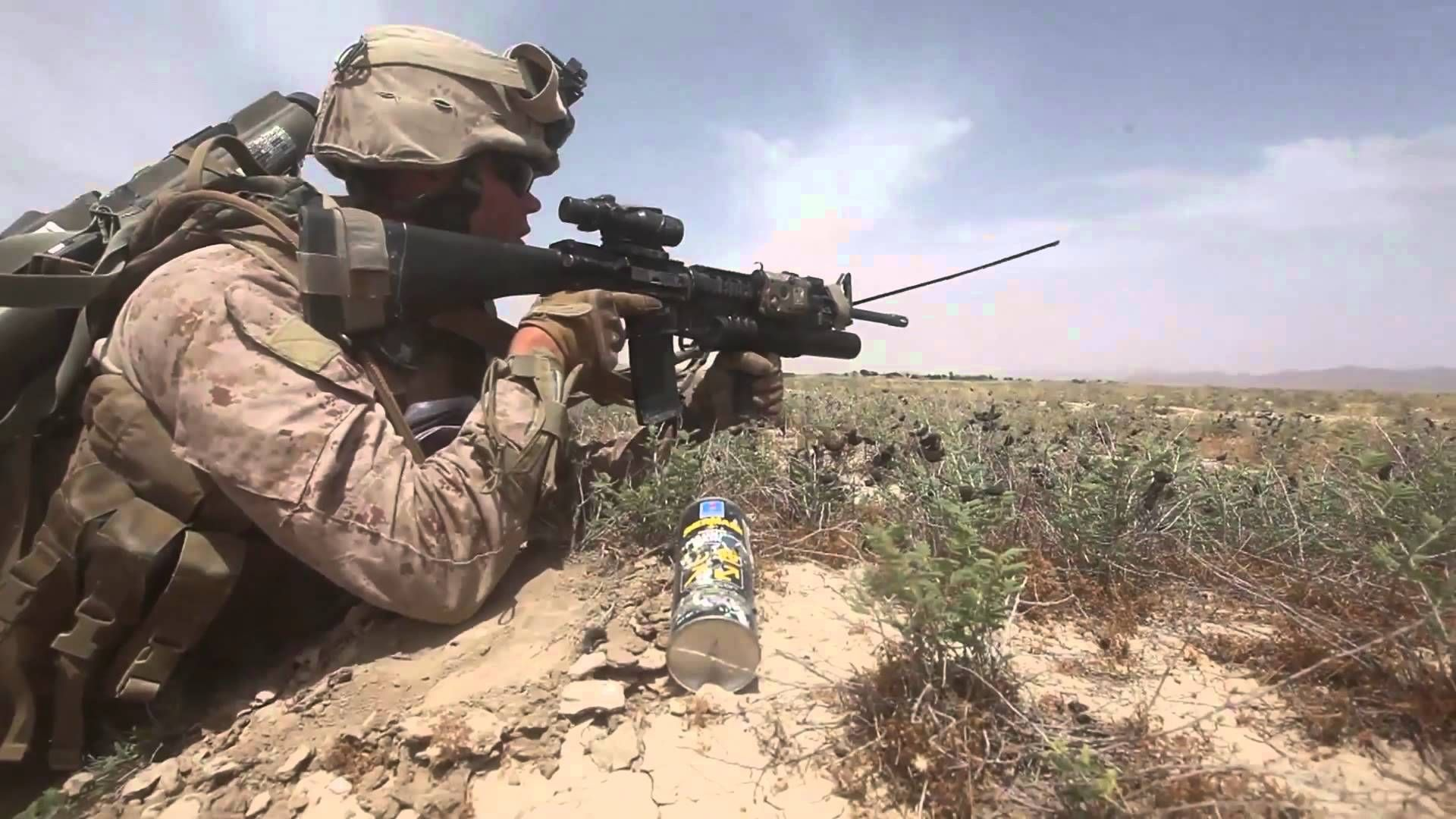 Us Marines Patrol In Afghanistan Combat Footage Youtube
