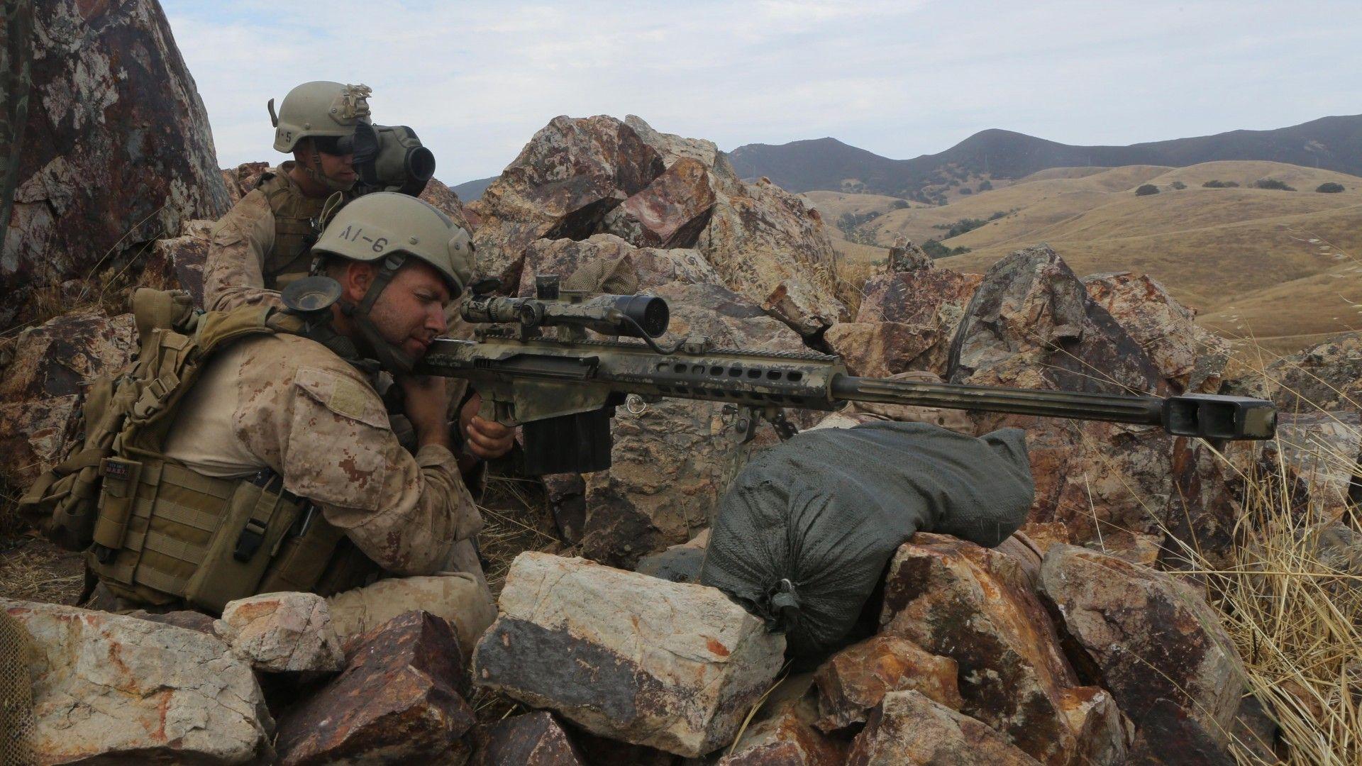 Ukrainian Arsenal Sniper Rifle Barrett