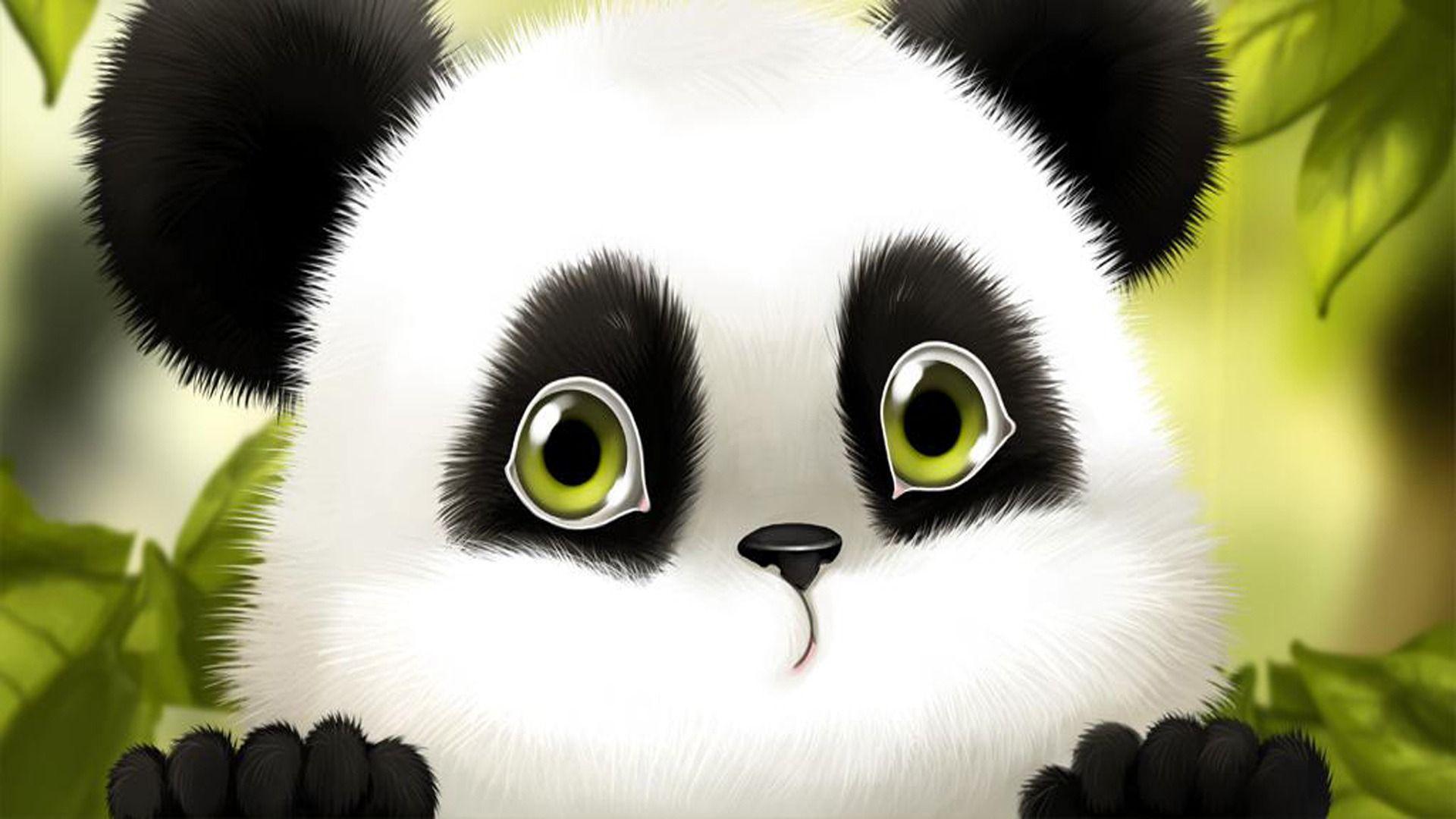 View Similar Wallpaper Panda, Cartoon Size