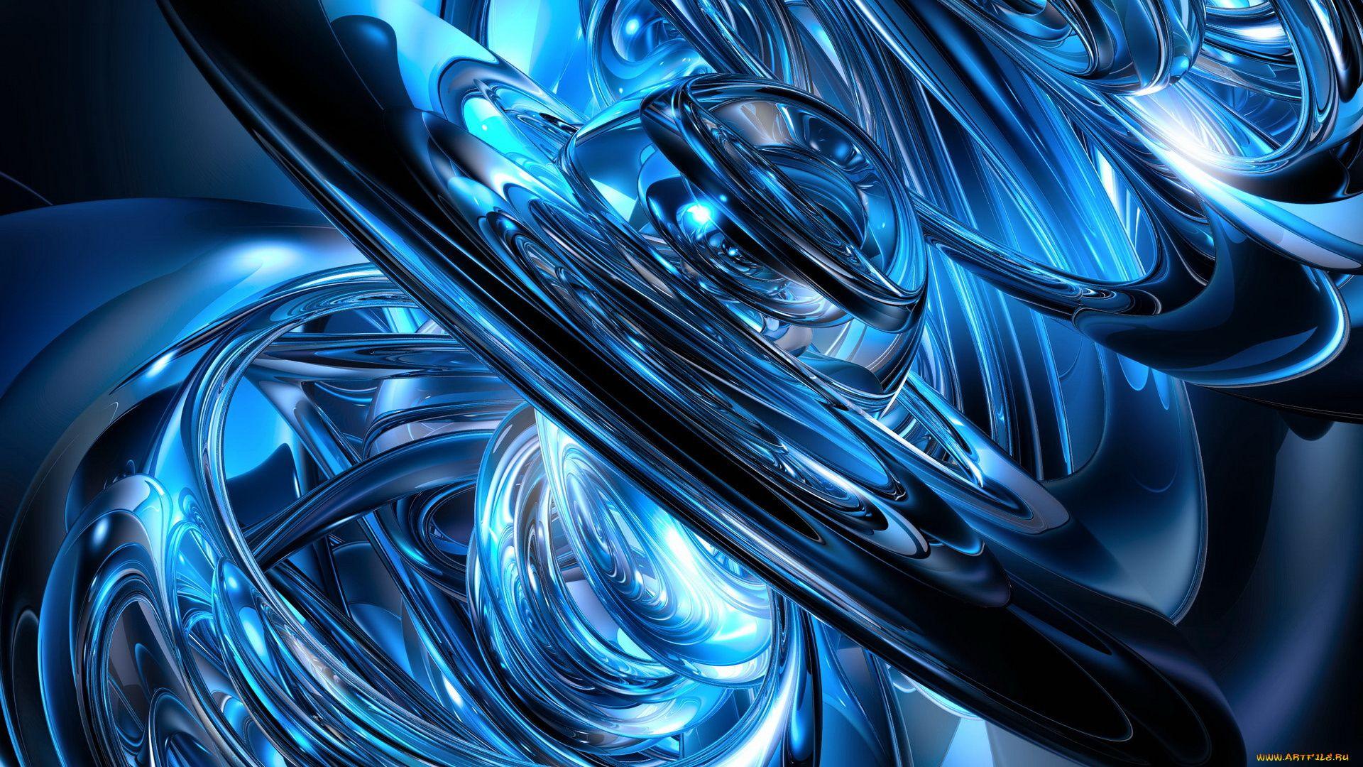 Wallpaper Abstract 3d Blue Samsung