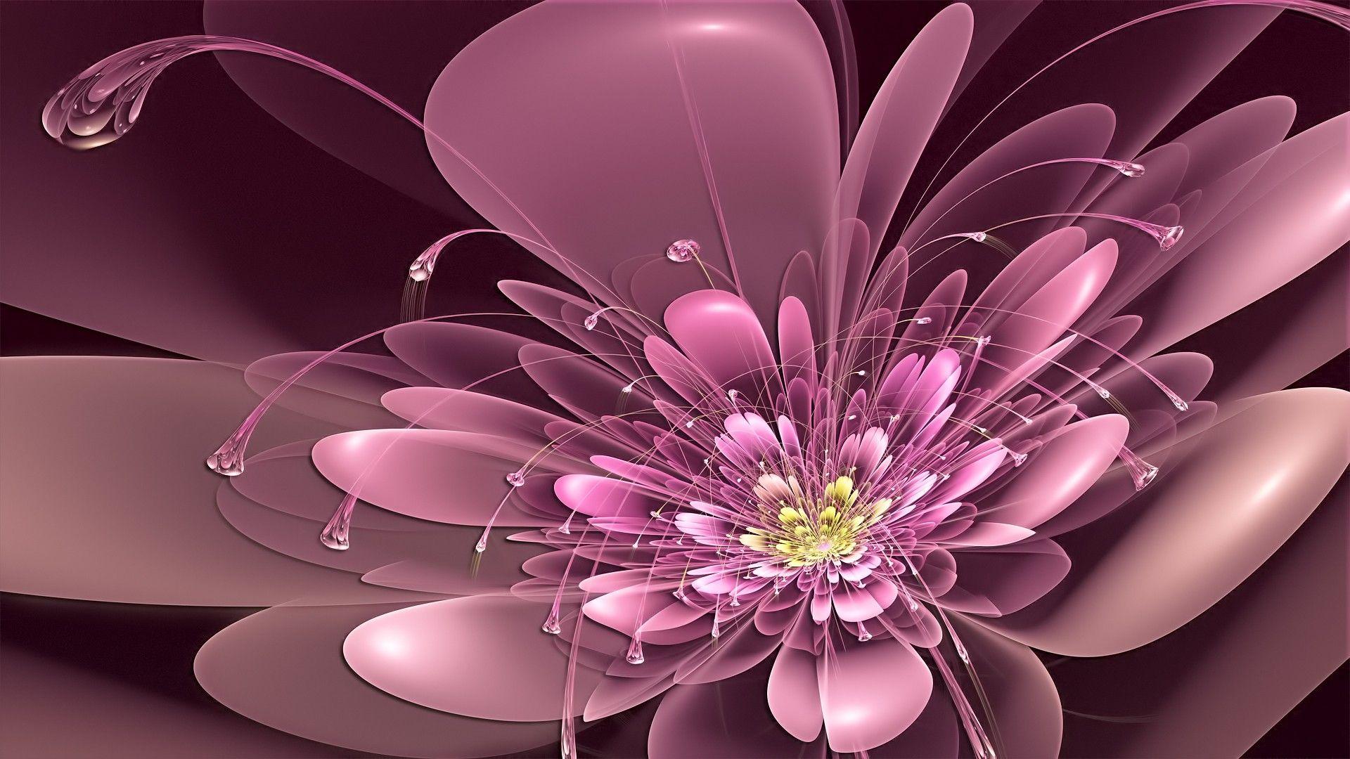 Wallpaper Abstract Flowers For Desktop