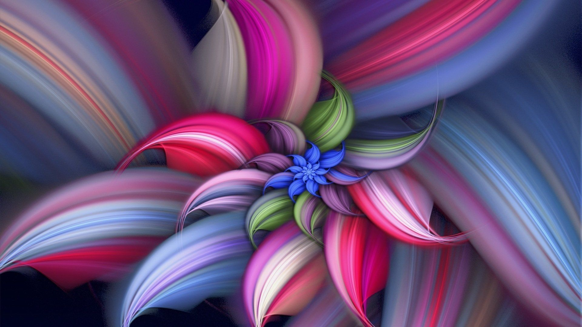Wallpaper Abstraction, Pictures On A Desktop 3d