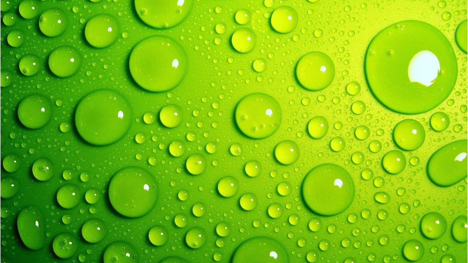 Wallpaper Desktop Green, Drop On Green Background