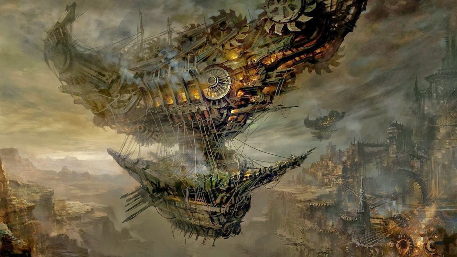 Wallpaper Of Budapest, Fantasi, Kota Fantasi, Game Mitologi, Airships, Share