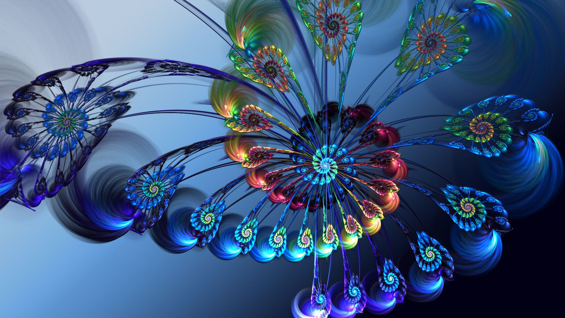 Wallpapers Flowers 3d, Fractals Pictures