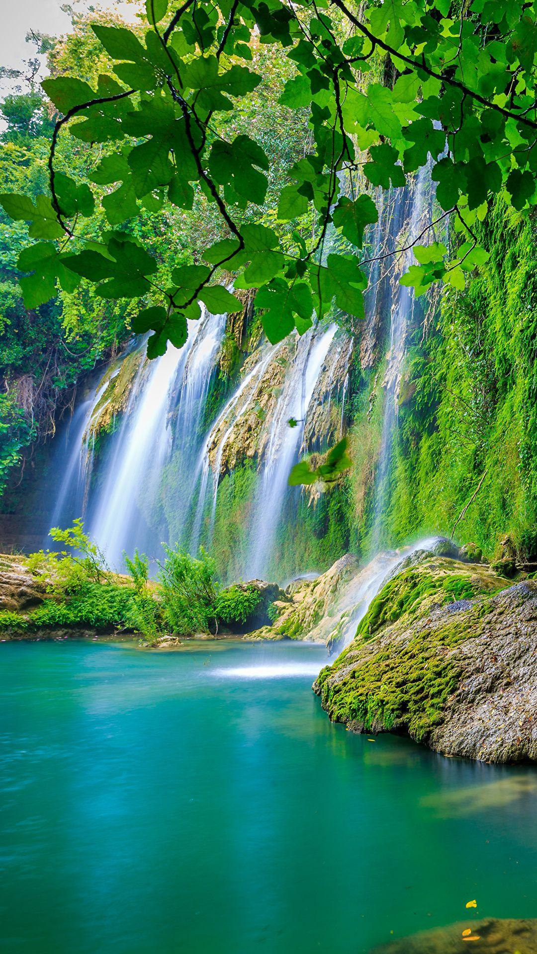Wallpapers Nature Waterfalls Moss