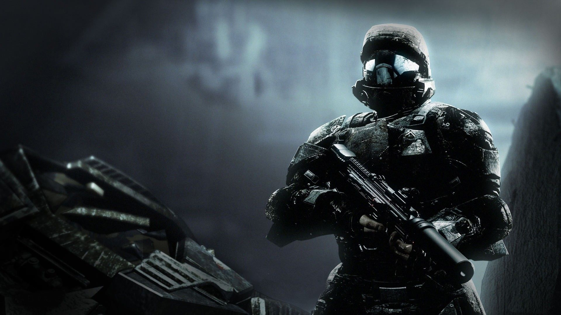 Wallpapers Soldiers Weapon In The Game Halo Odst