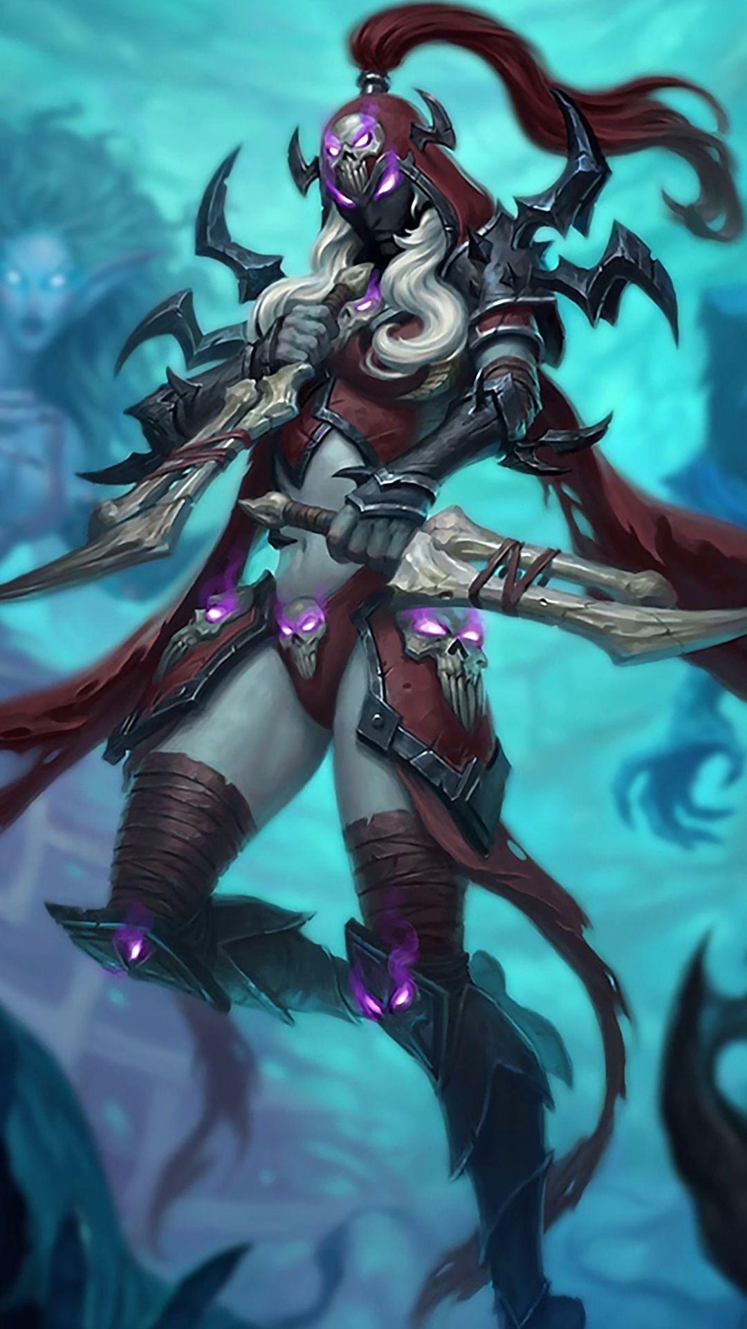 Warcraft Art, Hearthstone Wallpaper, Heroes, Elfa, Lich King