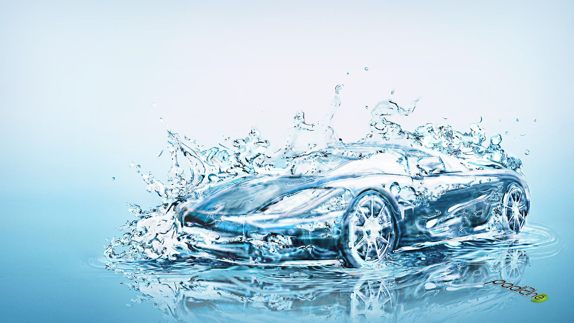Washing The Car Background, Pictures For Business Cards