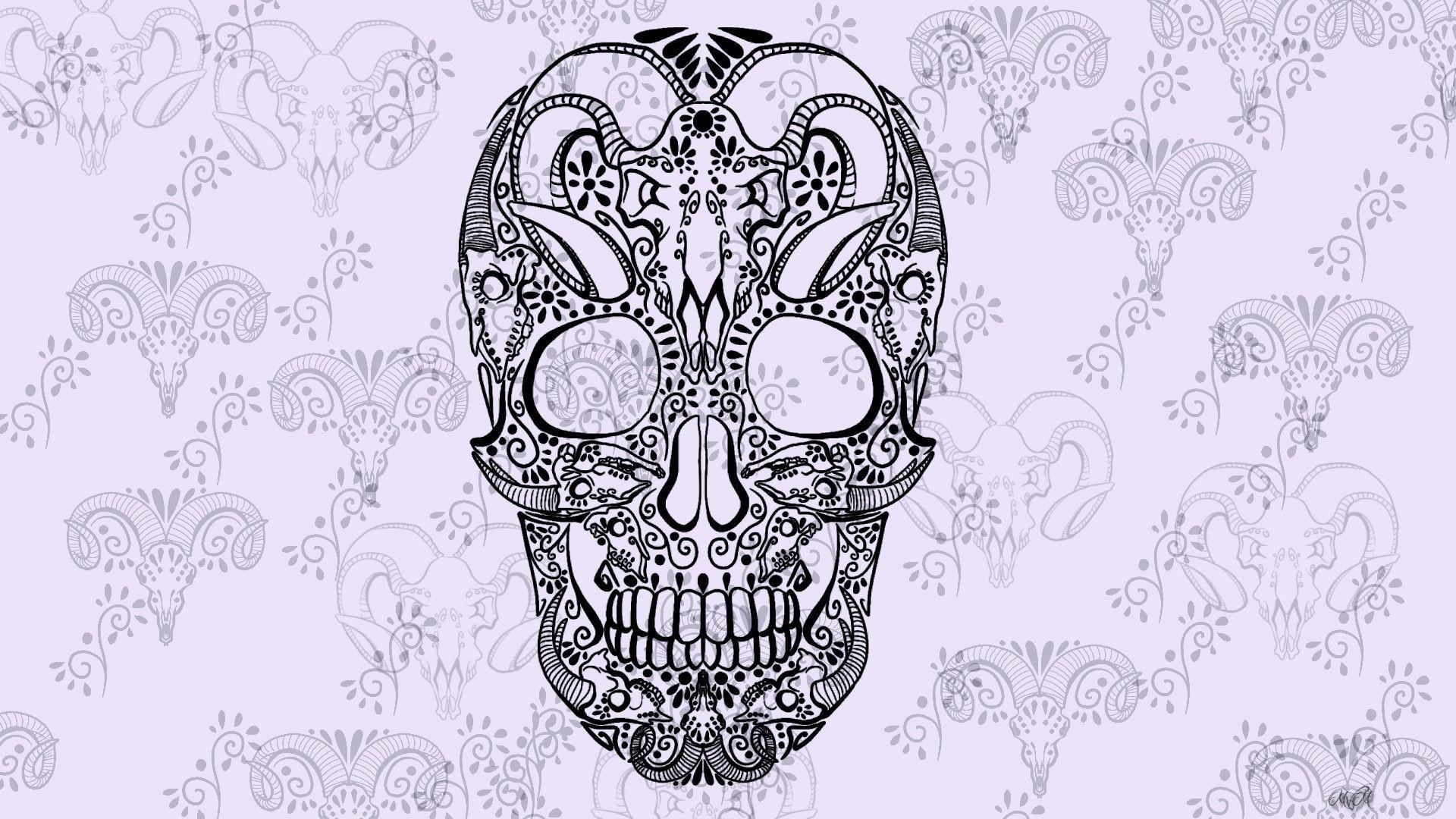 Artwork, Skull, Sugar Skull Wallpapers Hd Desktop And Mobile Backgrounds