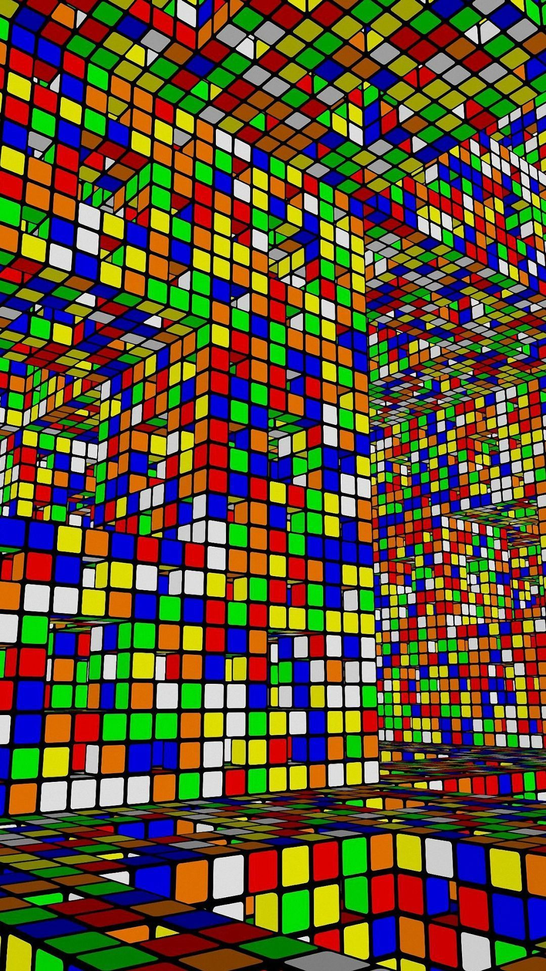 Colorful 3D Blocks Design Iphone Wallpapers Hd Iphone