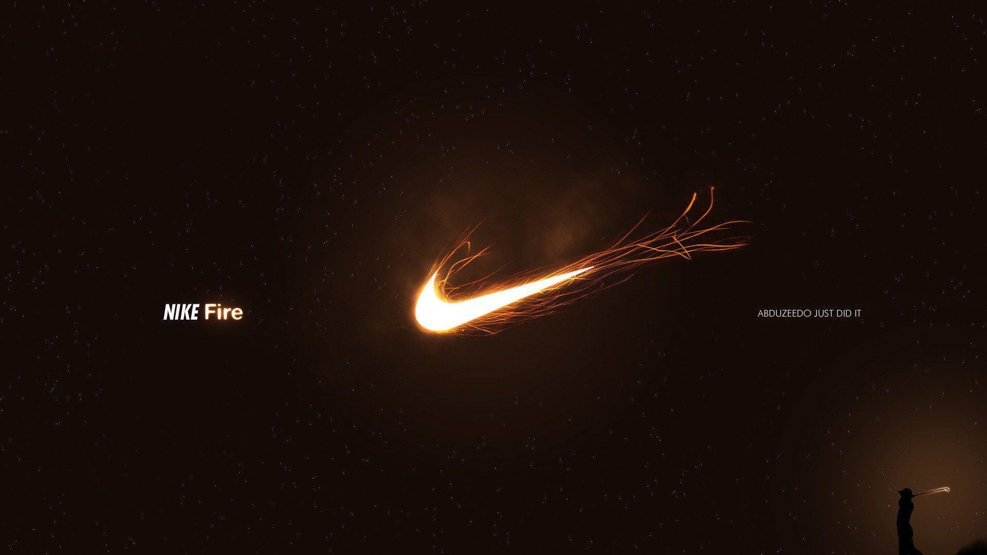 Nike Fire Logo Hd Wallpaper For Laptop
