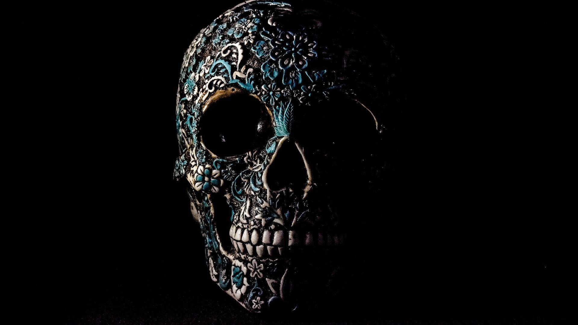 Skull, Dark, Patterns, Bones Wallpapers Full Hd, Hdtv, Fhd