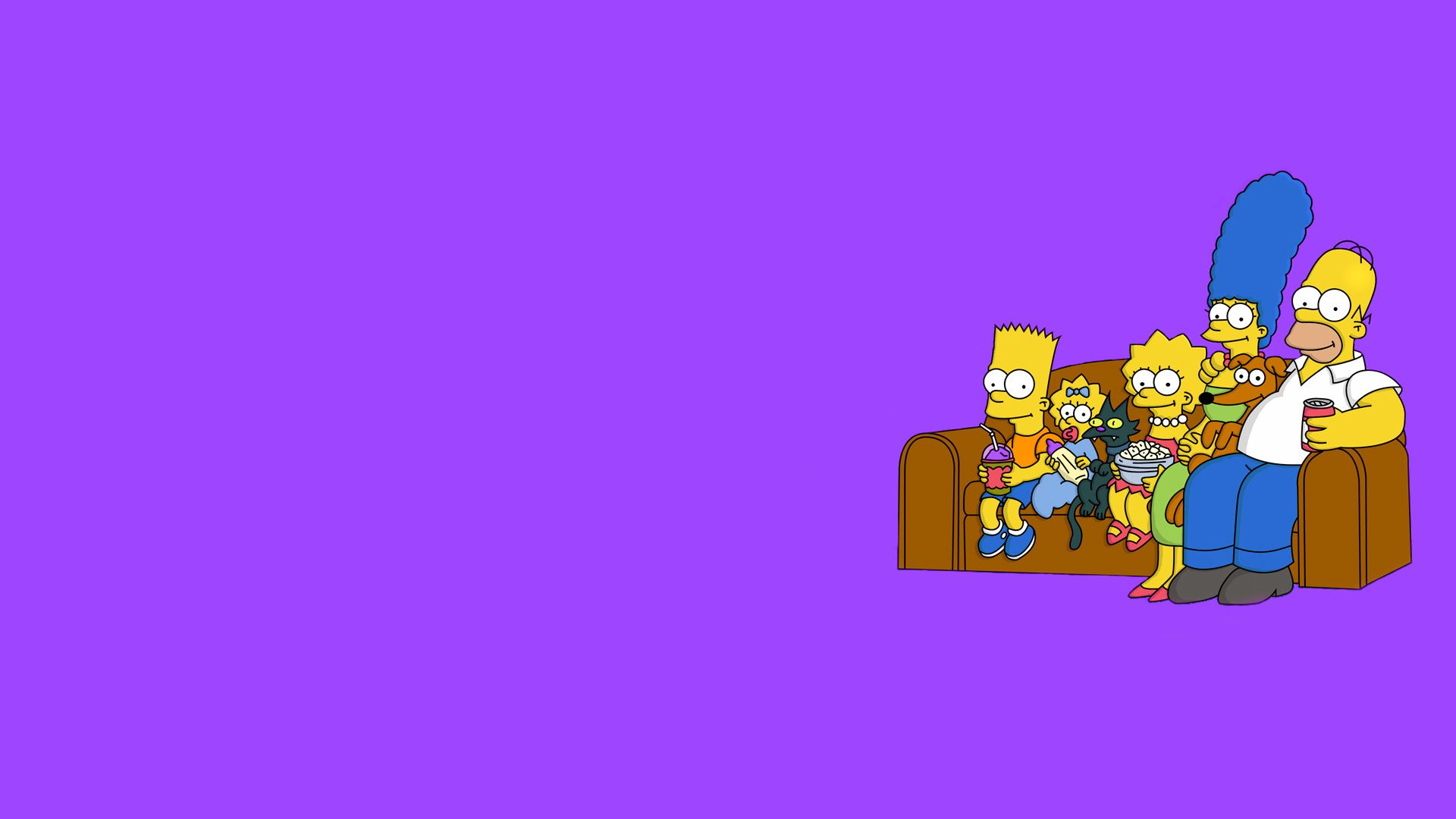 The Simpsons, Minimalism, The Simpsons, Purple Background, Sofa