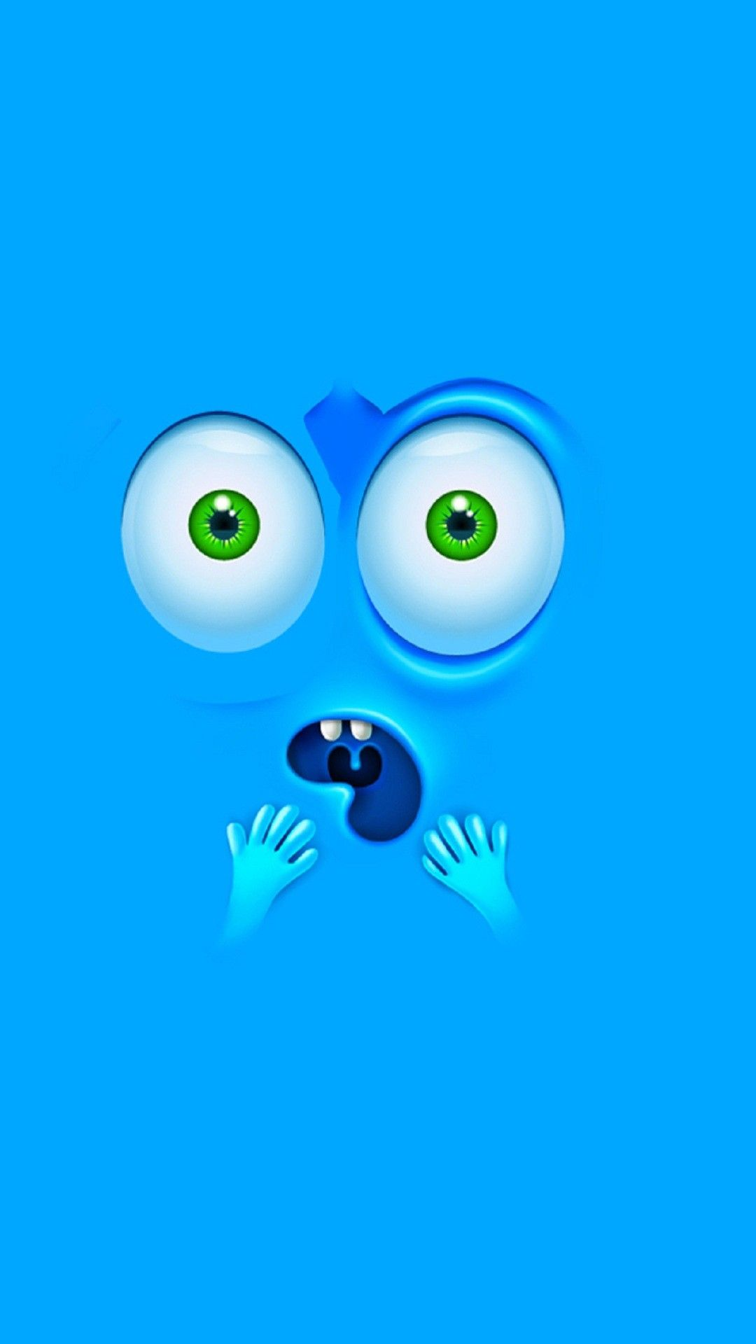 Wallpapers, Abstract, Minimal, Funny, Funny Blue Faces, Free, D