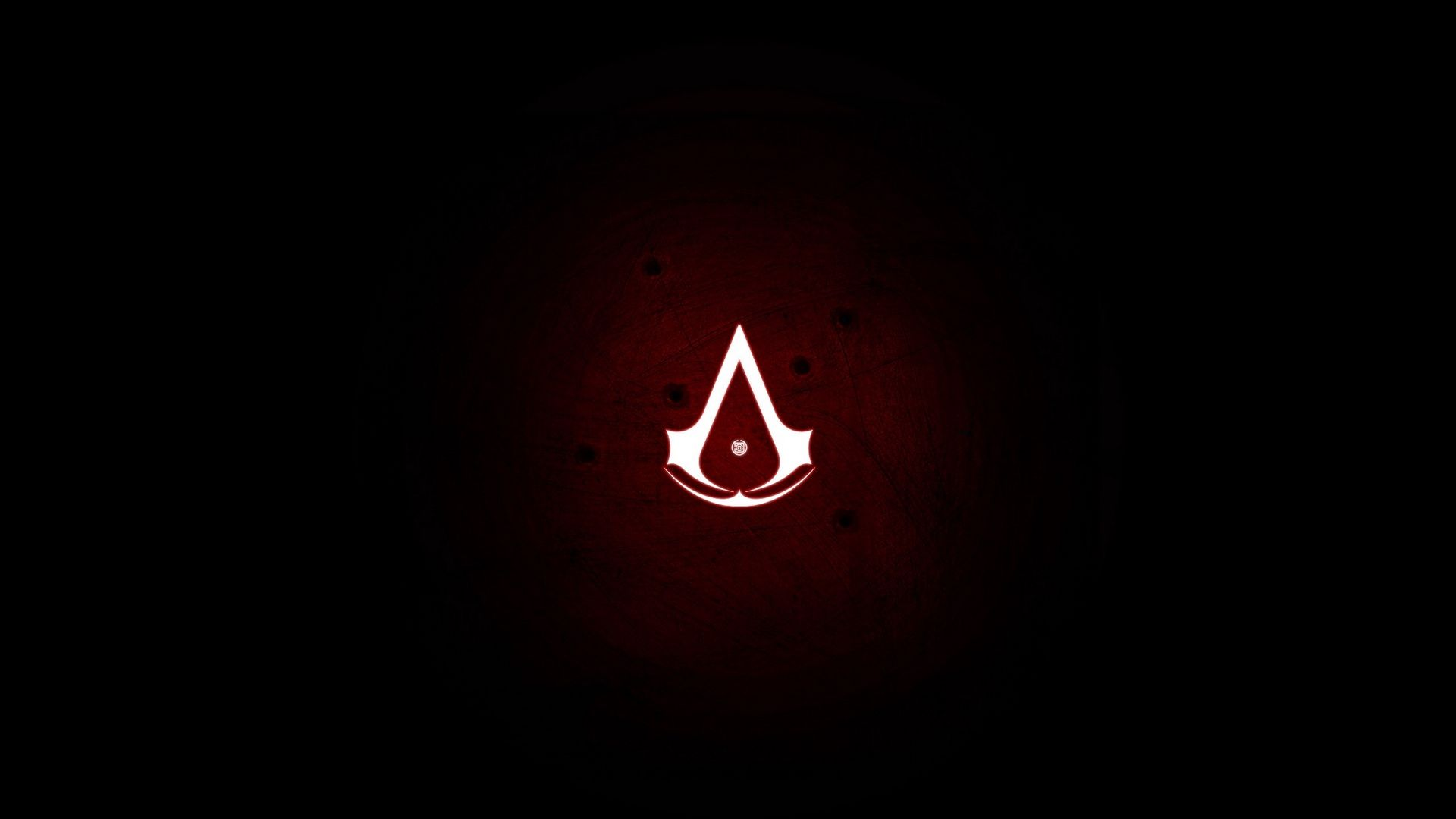 X Assassins Creed, Assassins Symbol, Red, Background, Dots Wallpaper Full