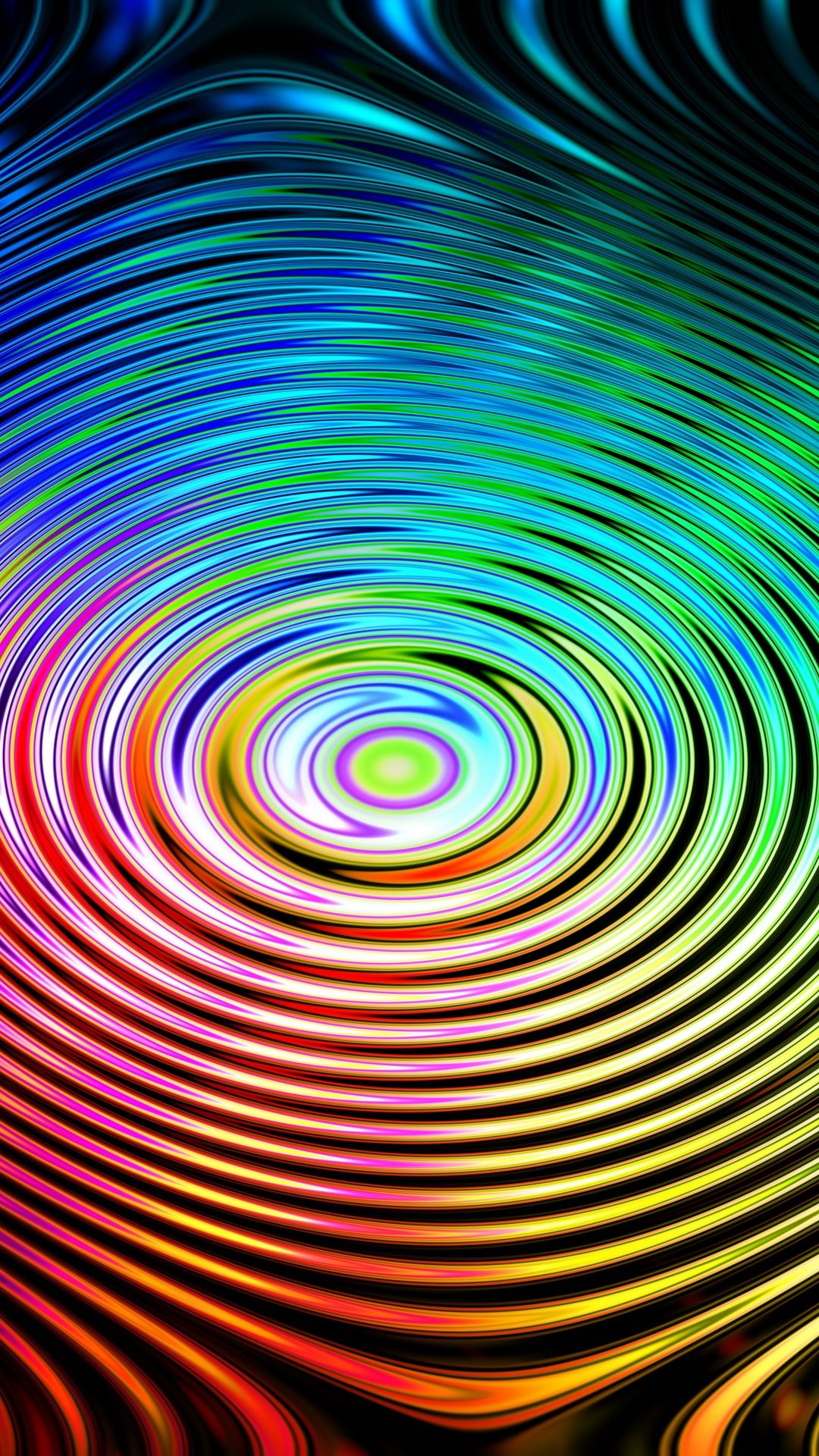 3X Circles, Colorful, Wavy Wallpaper Samsung Galaxy S, Note