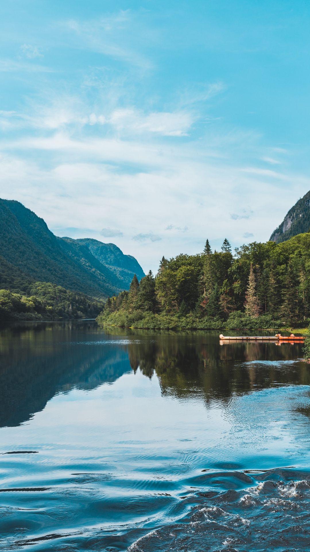 480 800 Mountain Forest Landscape
