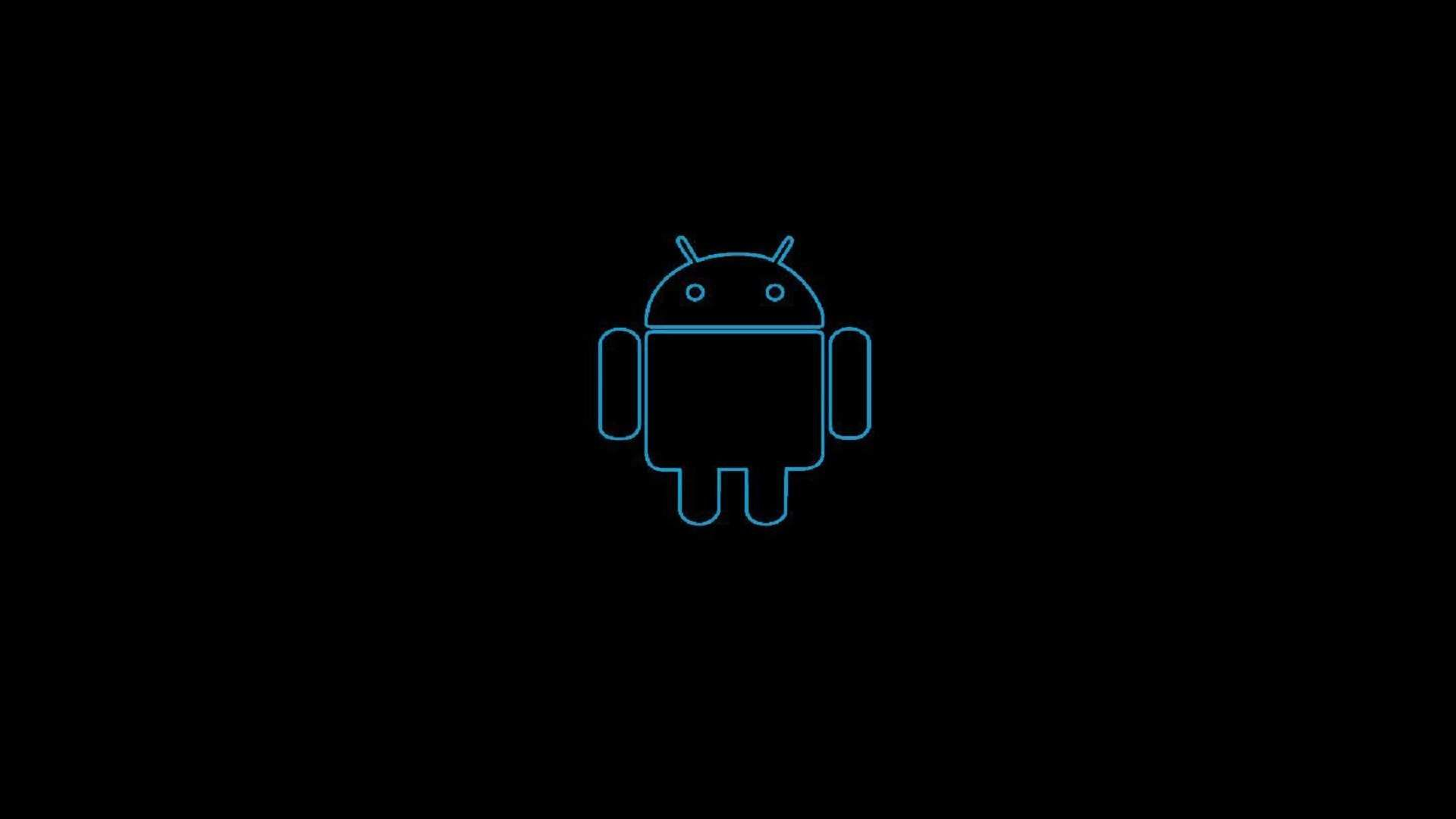 Android Logo On A Black Background