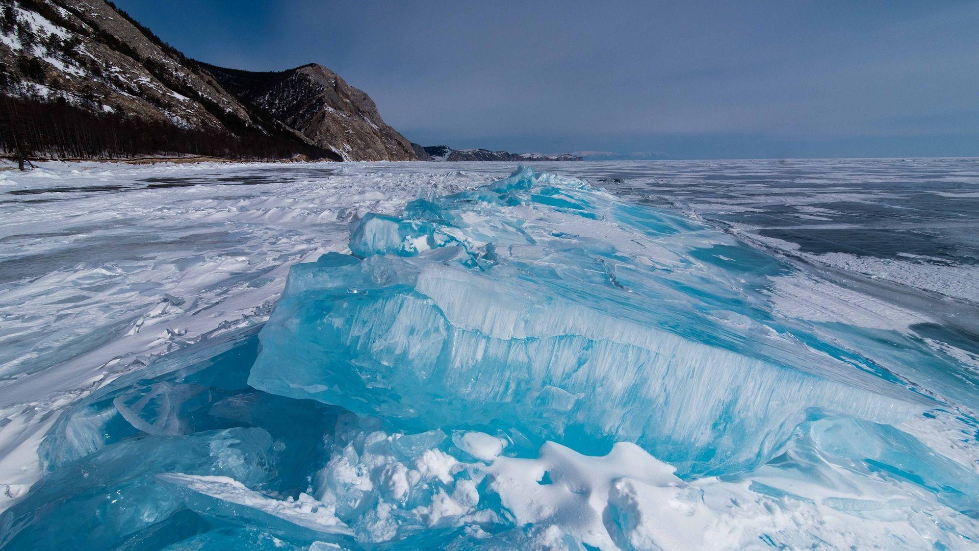 Baikal In Winter Wallpaper