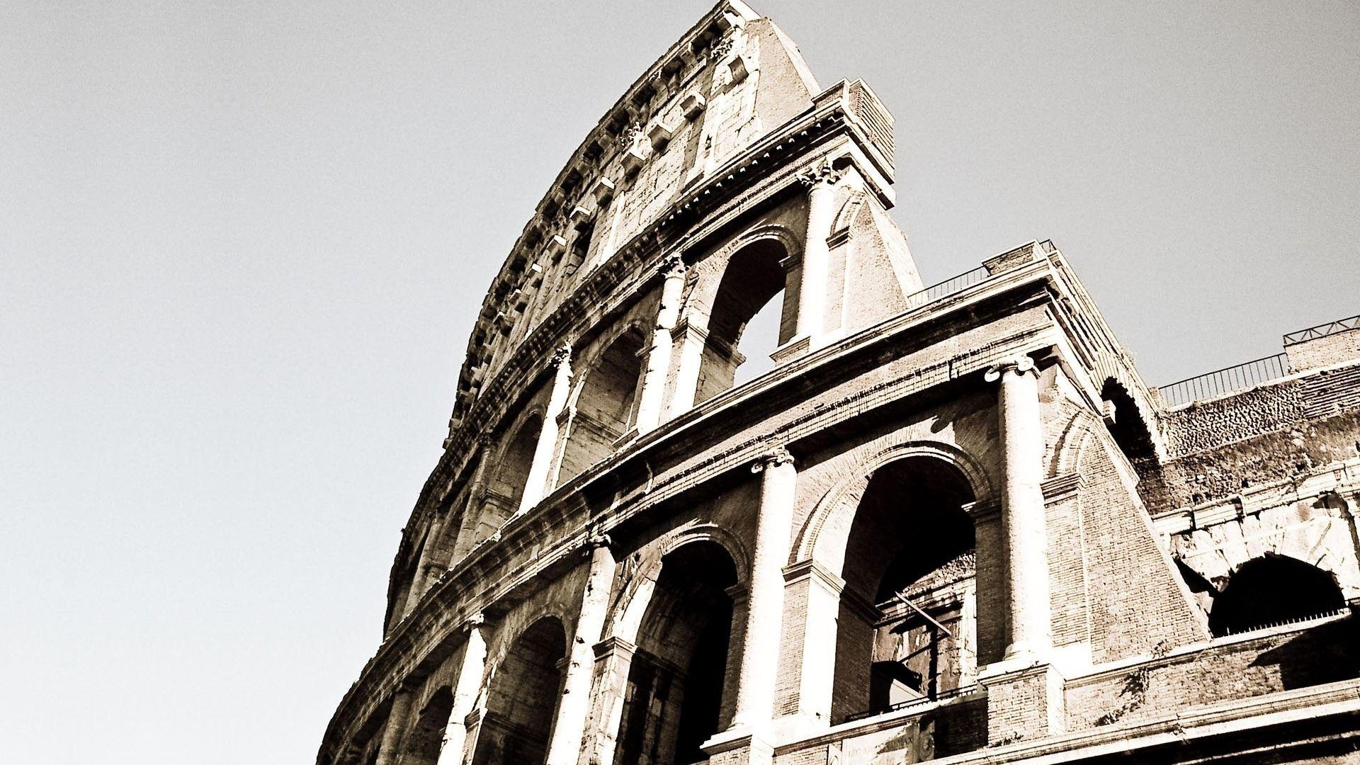 Colosseum Black And White Photo