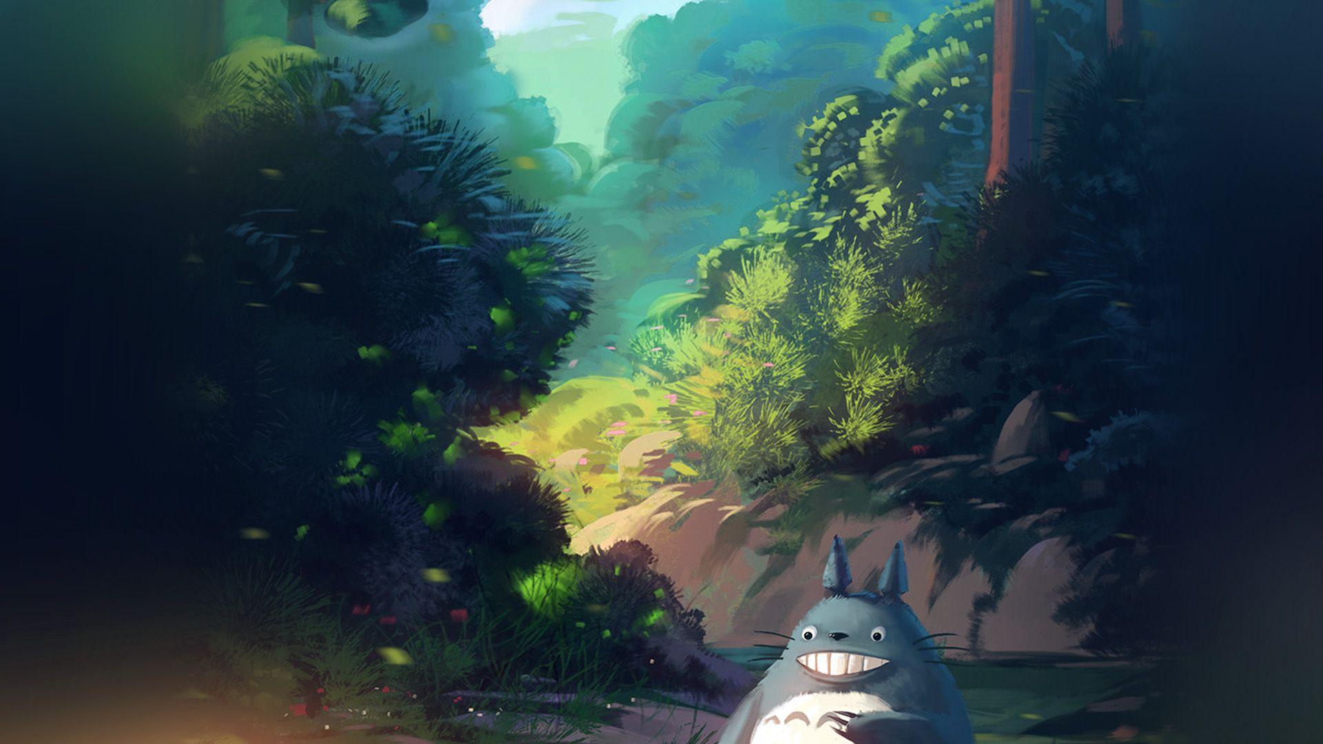 Hayao Miyazaki Art Totoro