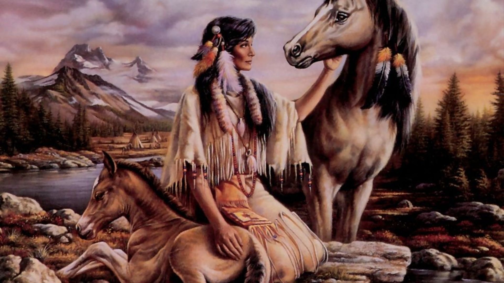 Indians And Horses Picture