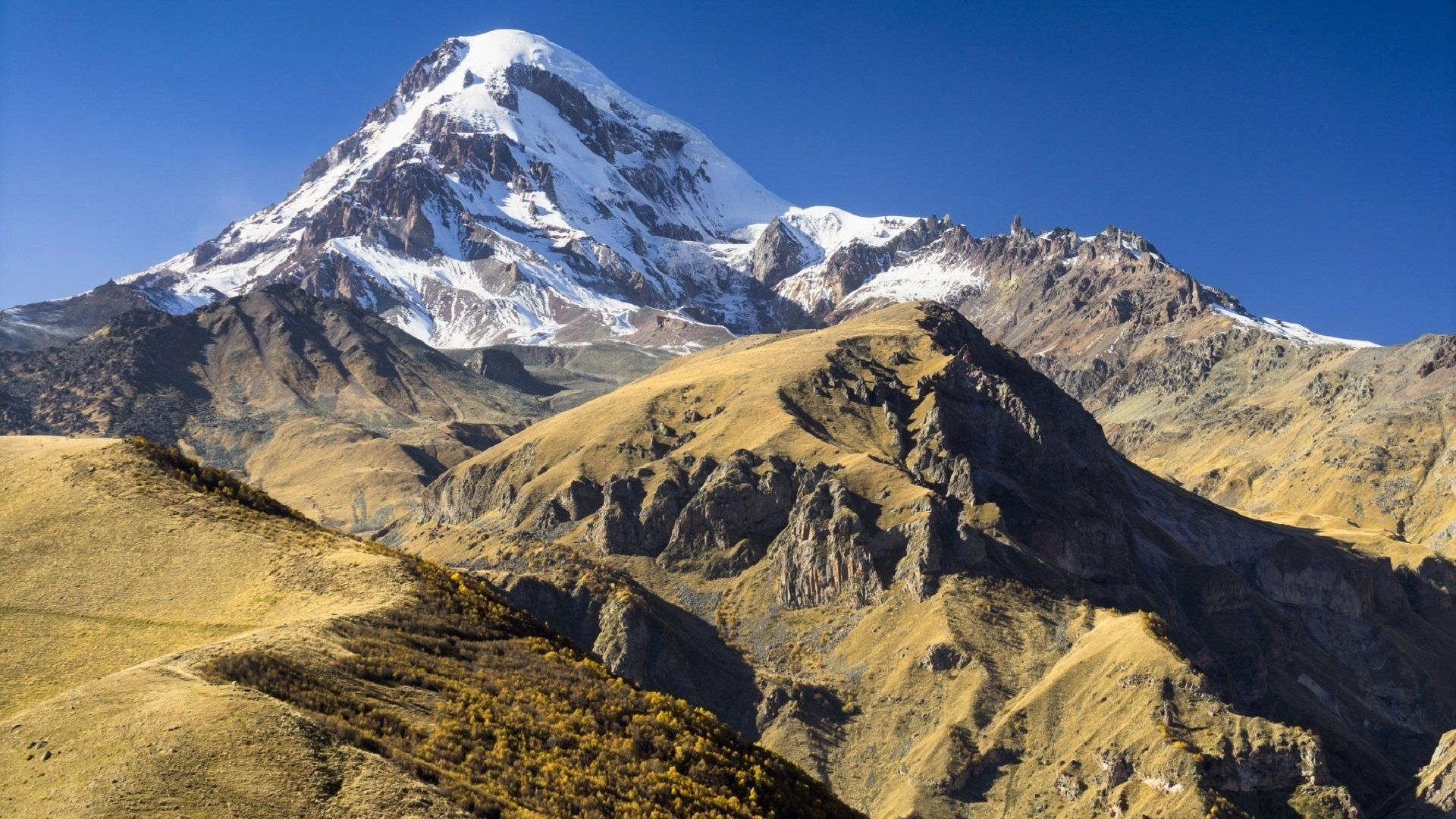 Kazbek Caucasus Mountains