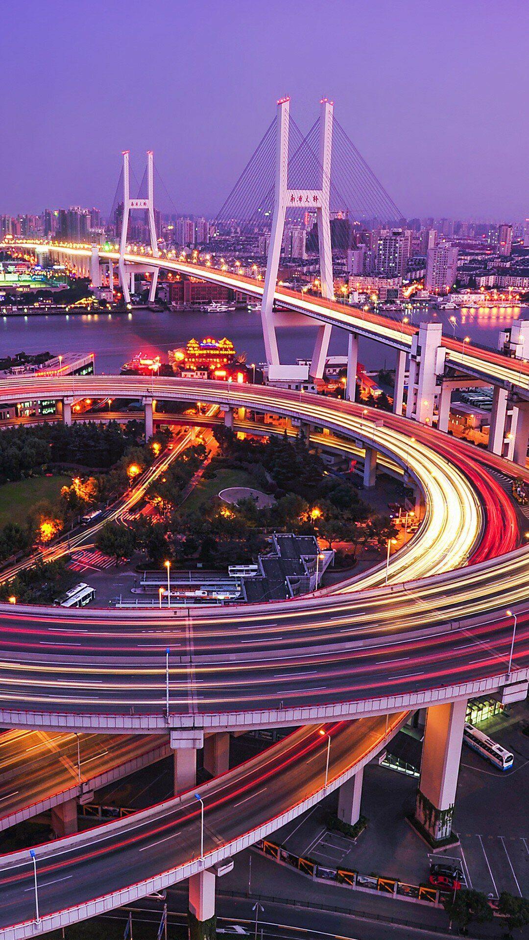 Nanpu Bridge In Shanghai