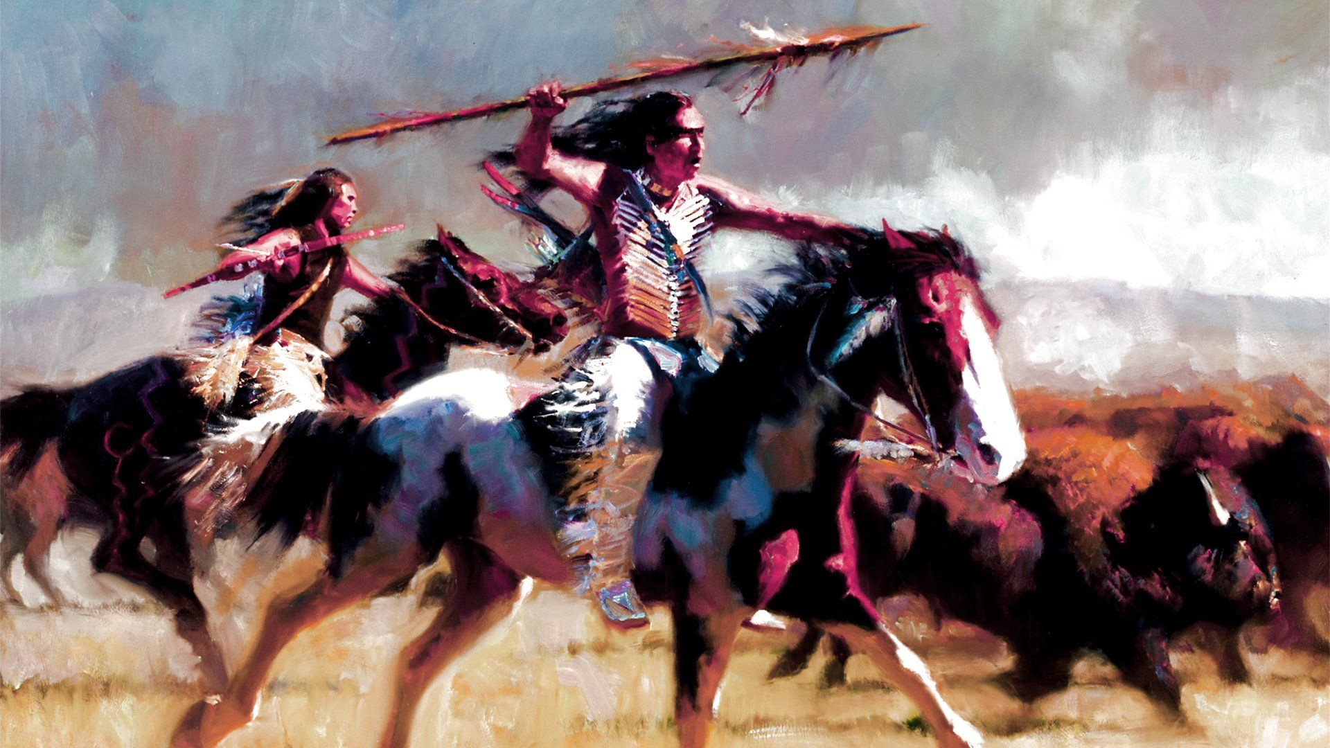 North American Indians Painting