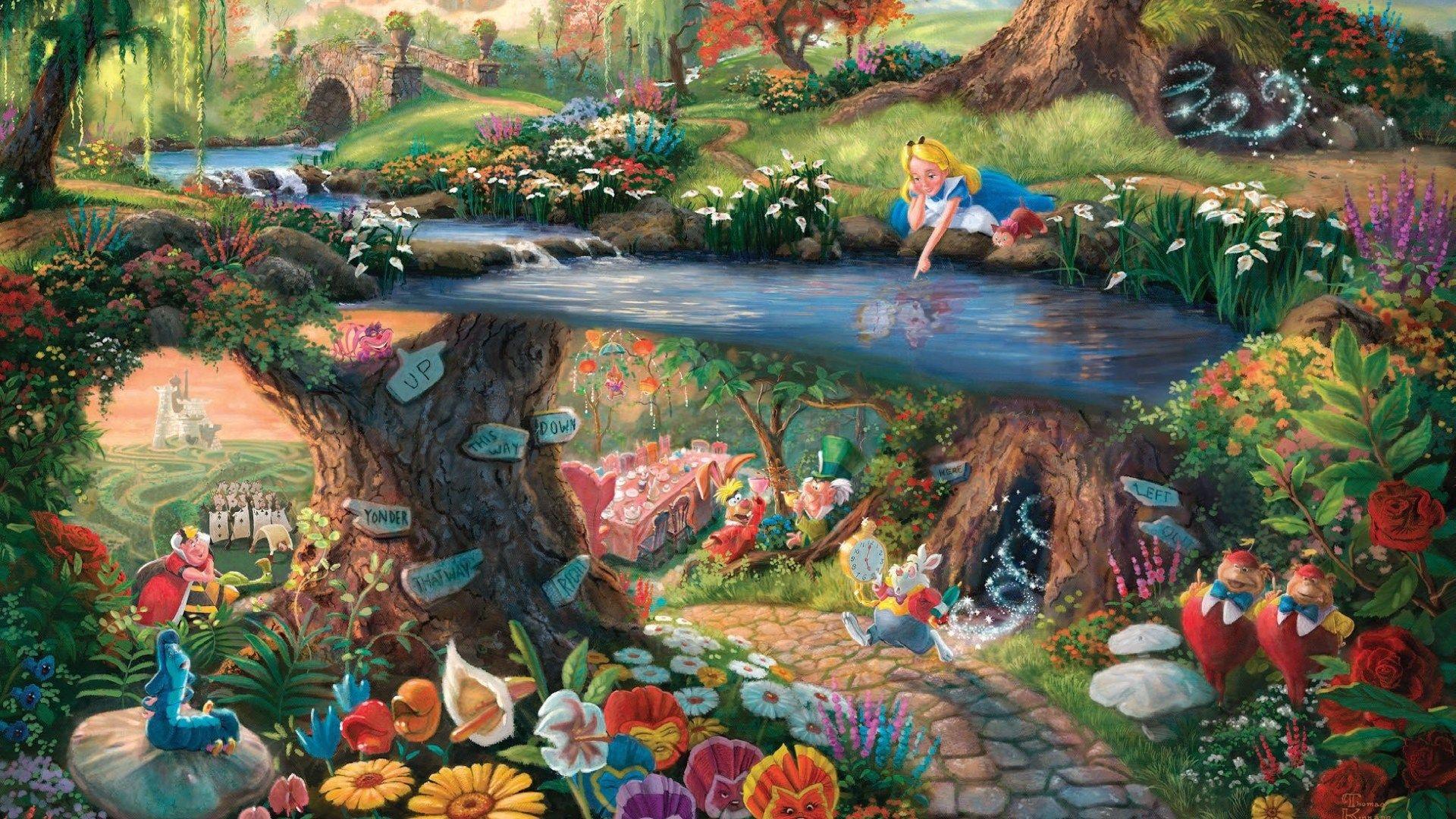 Thomas Kinkade Paintings Disney