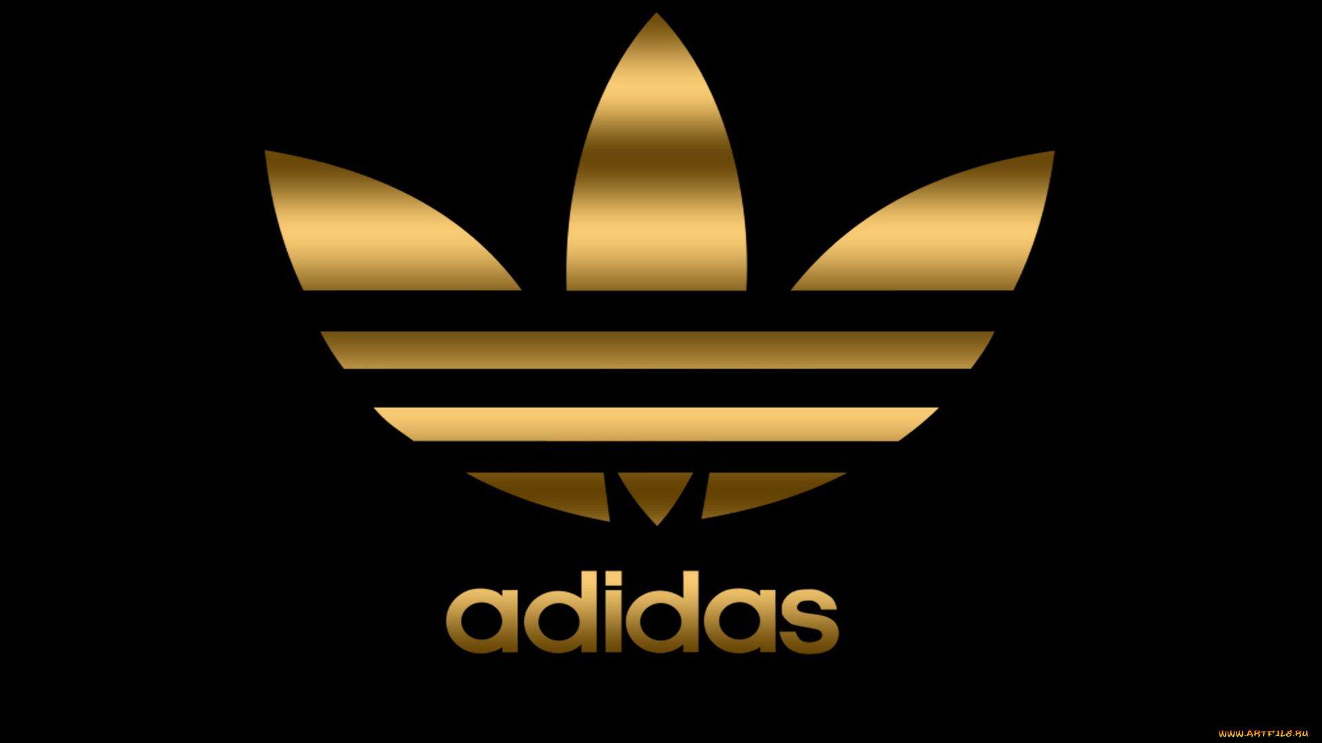Wallpaper Adidas Gold