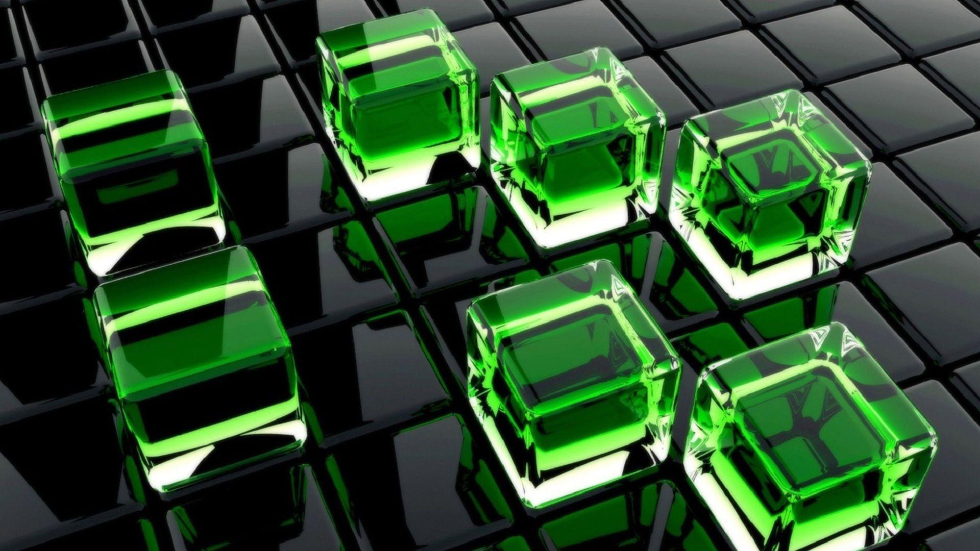 Wallpaper Cubes 3d