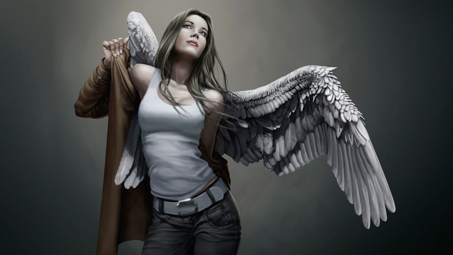 Wallpaper Desktop Girls Angels