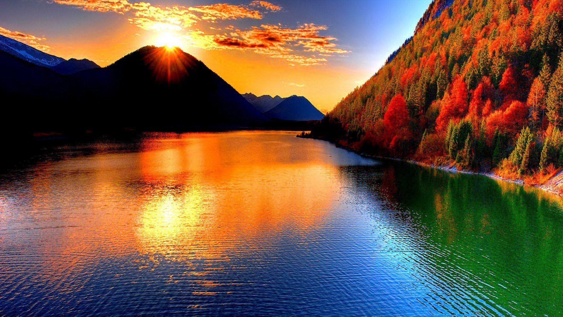 Wallpaper Desktop Nature Sunset