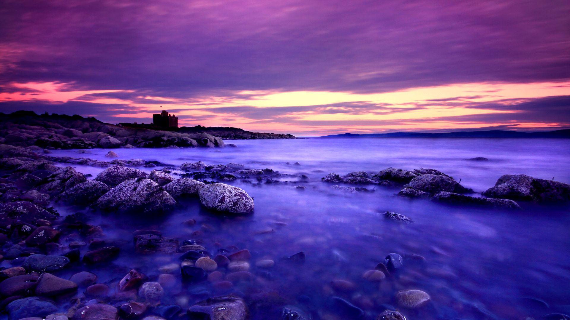 Wallpaper Desktop Purple Sunset