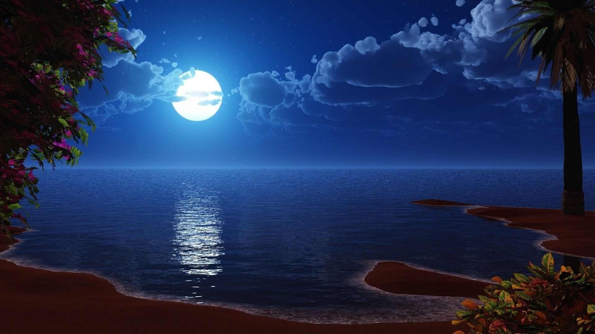 Wallpaper For Desktop Moon Night