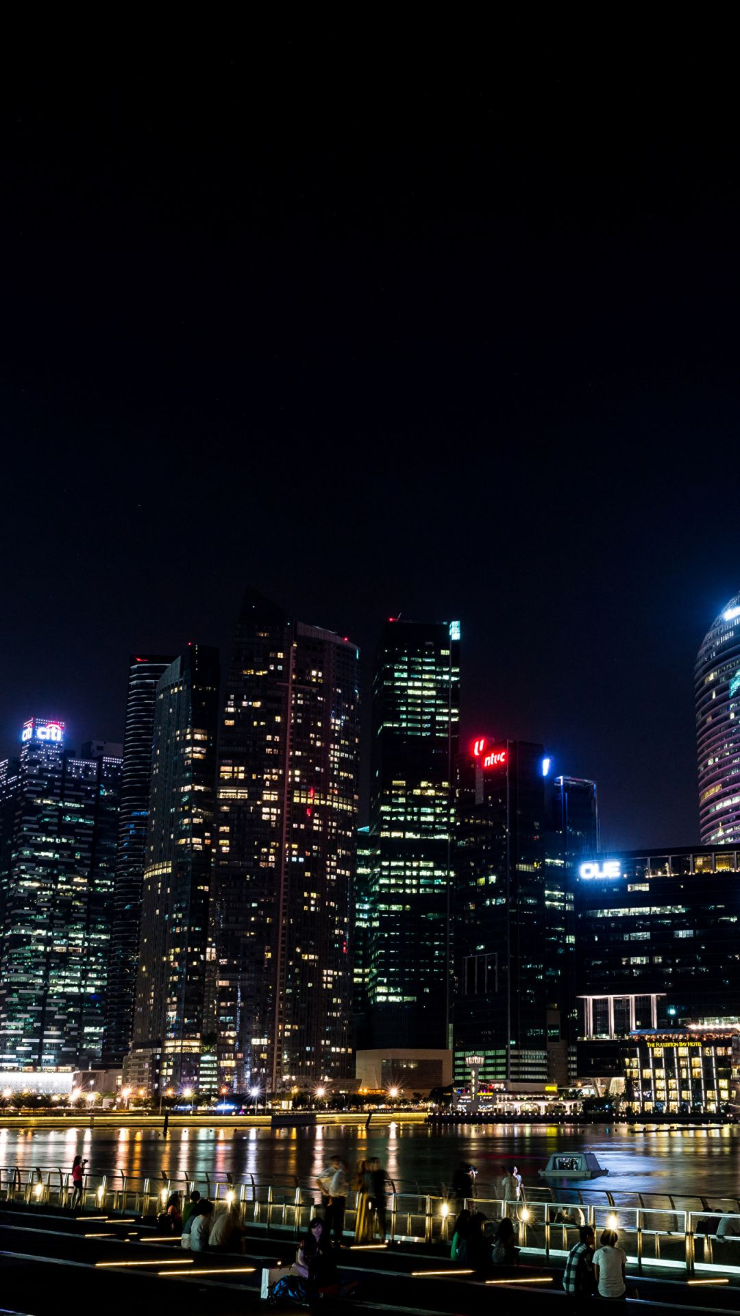 Wallpaper For Iphone Night Skyscrapers