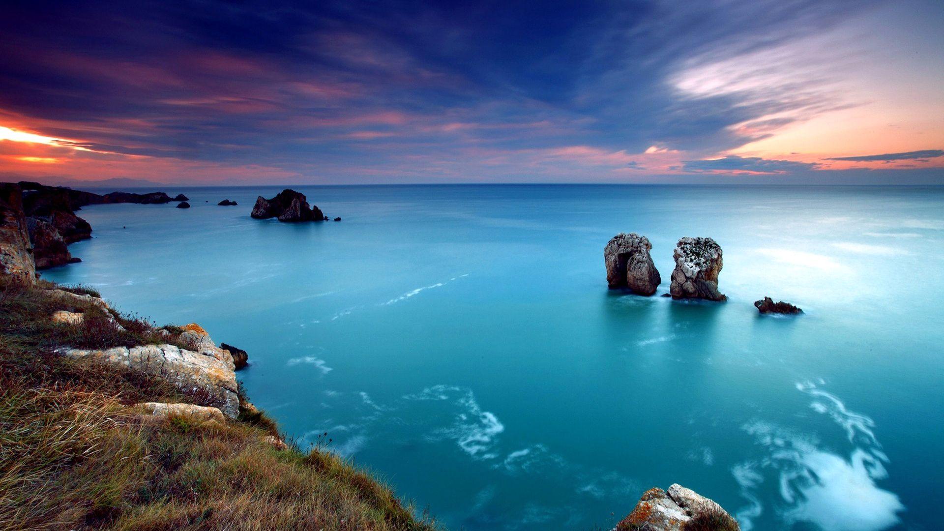 Wallpaper Sea Rocks