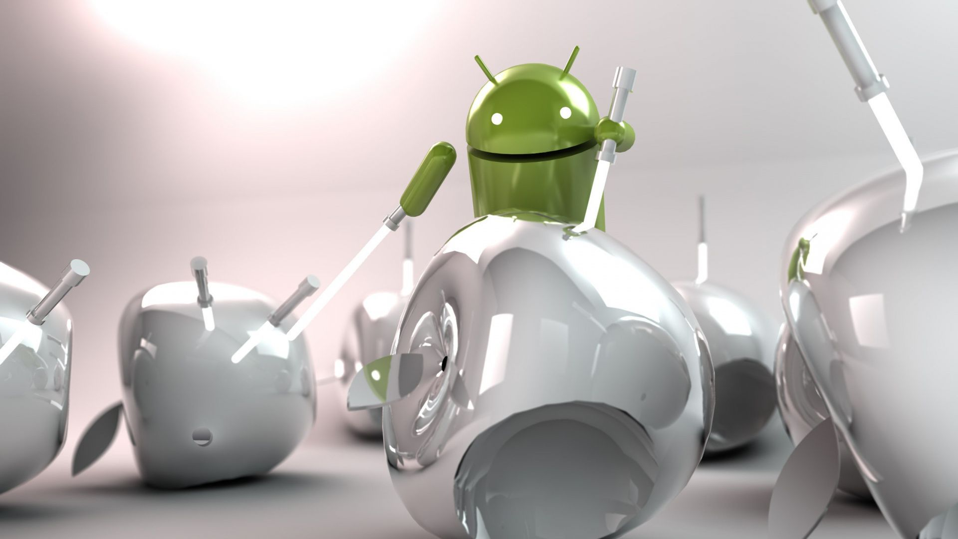 Wallpapers Android Vs Apple