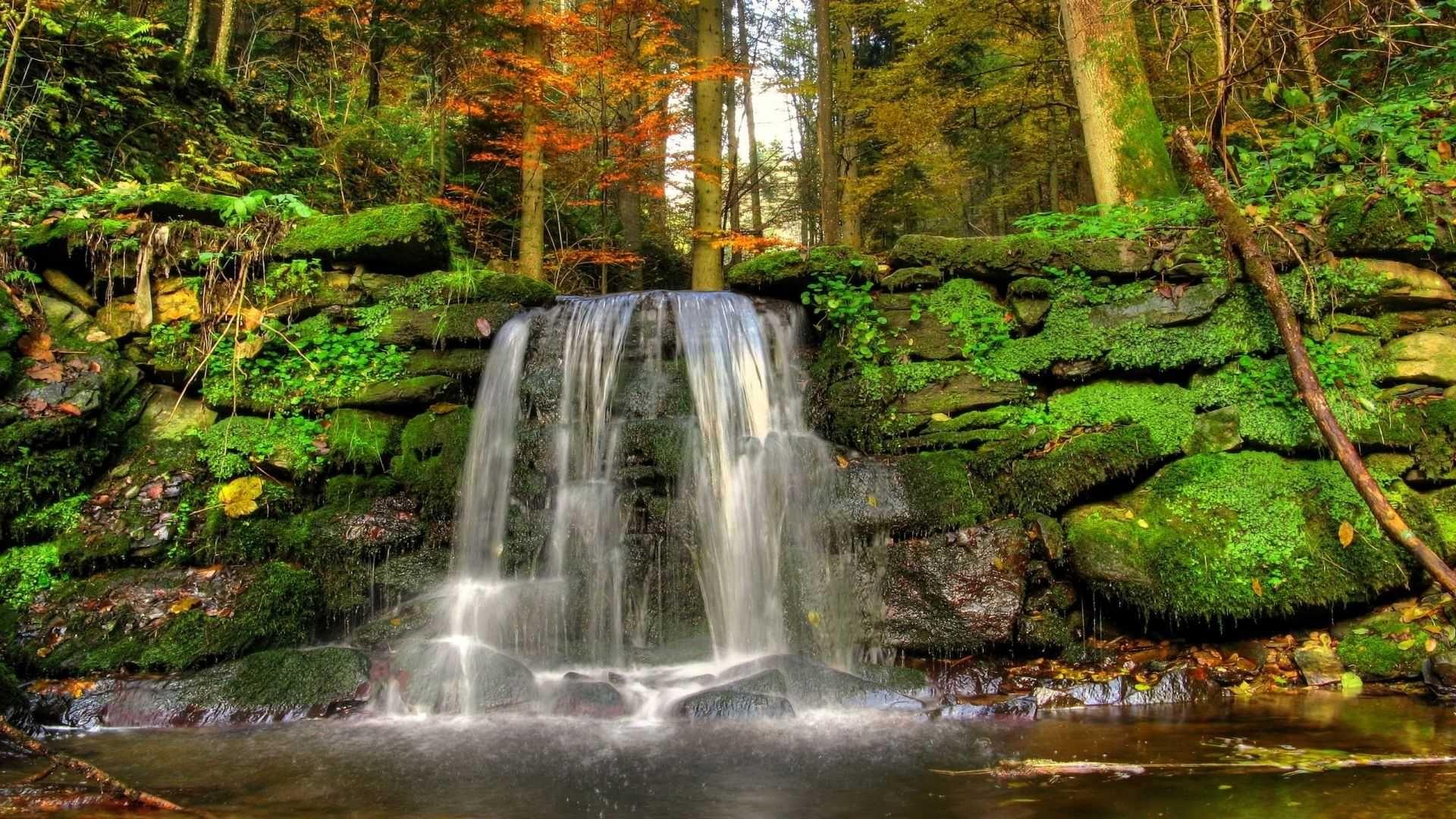Wallpapers Desktop Nature Waterfalls