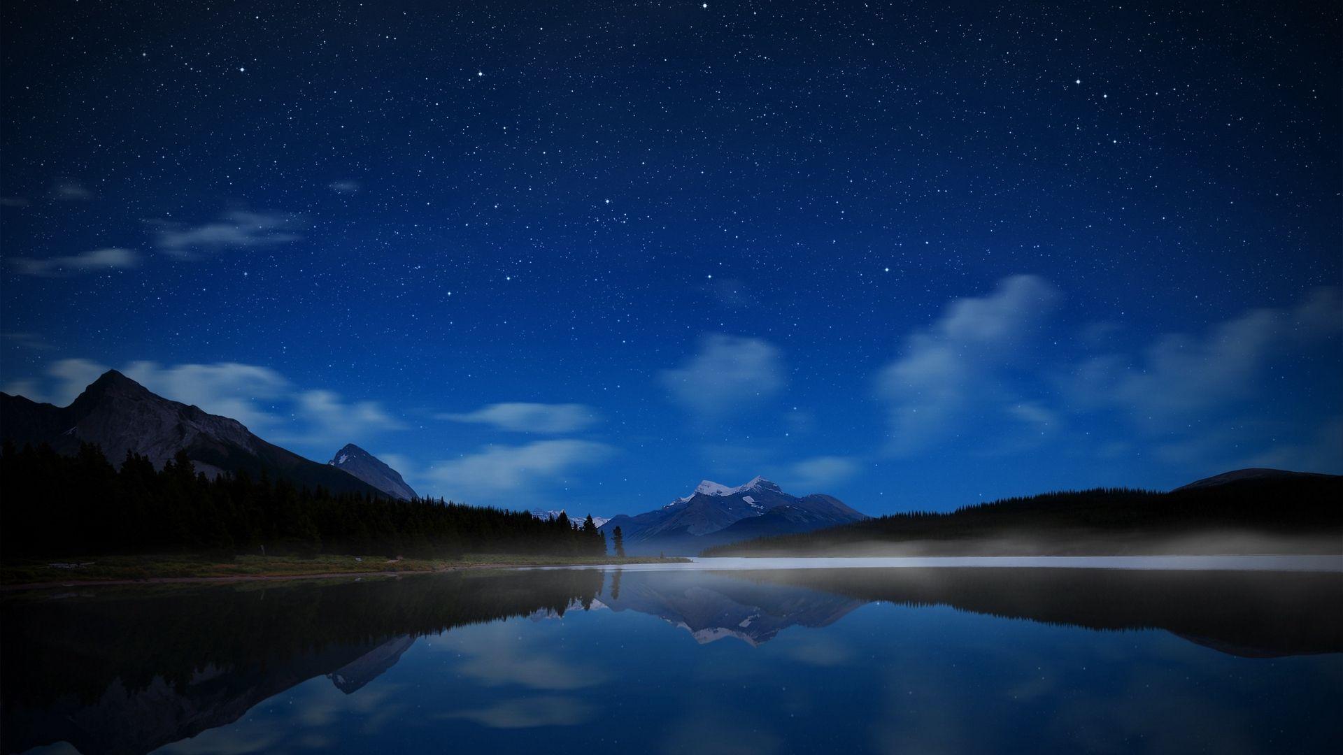 Wallpapers Night Lake