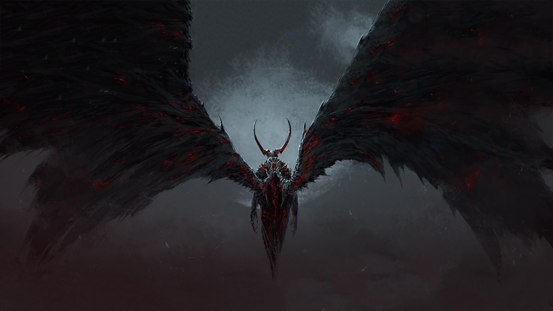 A Demon With Wings Art