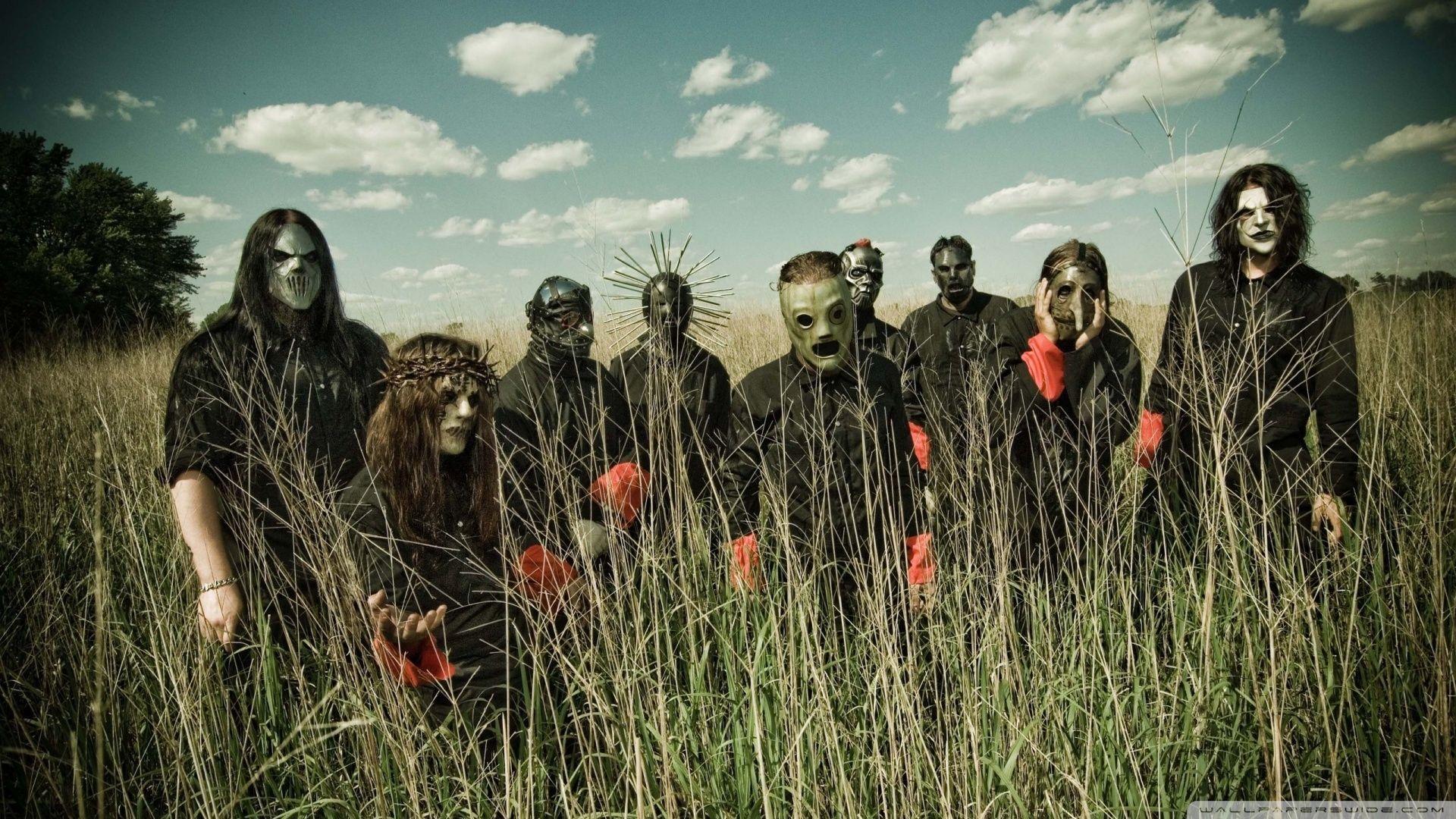 A Group Photo Of Slipknot
